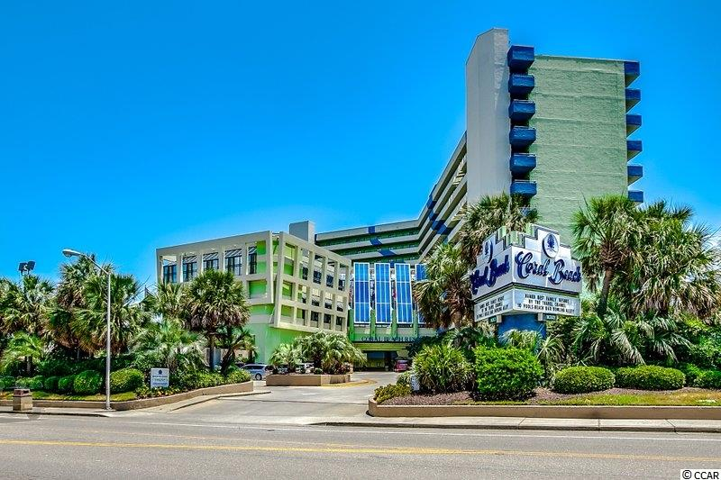 Fantastic opportunity to own this upgraded 1 bedroom, 1 bath condo in the highly desirable Coral Beach Resort. This unit features wall to wall and floor to ceiling windows in the living room to give the best panoramic views off of your direct oceanfront balcony. The kitchen has been completely upgraded with upgraded shaker cabinets, granite countertops, and full size appliances. The master bedroom features 2 queen size beds with upgraded furniture as well as the bathroom has been upgraded with granite countertops and enlarged mirror. Other features of this condo is the heating & air unit is only a couple of years old and a murphy bed. Coral Beach Resort is packed with amenities including an oceanfront pool, oceanfront sundeck, hot tub, kiddie pool, bowling alley, arcade, fitness center, Coral Bean Café serving Starbucks coffee, Oceans 6 Bar & Lounge, and gift shop. This resort is located just a short walk to the Boardwalk and Skywheel as well as centrally located to all that Myrtle Beach has to offer including all the areas top entertainment, shopping, attractions, and restaurants. This resort and view is truly a paradise and this unit is a must see!