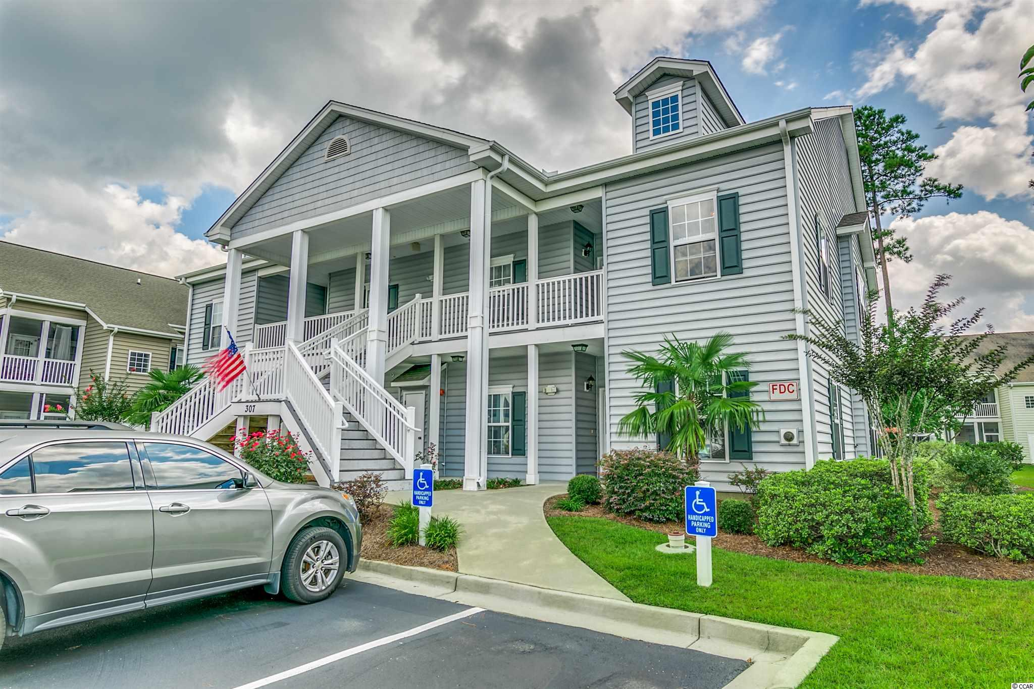 This condo is on the second floor so no one will be above you!  Don't miss out on your opportunity to live in the gorgeous community of Marcliffe West in Murrells Inlet.  This 3 bedroom, 2 bathroom unit has vaulted ceilings making the unit feel extra spacious.  The only carpets you will find are in the bedrooms with ceramic tile in the bathrooms and kitchen, and hardwoods throughout the main living area.  In the kitchen, you will notice the upgraded cabinets and can lighting.  The owner's bedroom includes a tray ceiling, walk-in closet, and large attached bathroom.  There are only 4 units per building meaning that all of the units are end units!  On the back of the condo you find an additional stairway and entry along with a gorgeous screened-in porch.  The community has a beautiful pool and is located in the desirable Blackmoor Community.  The monthly HOA fee includes pool, lawn maintenance, trash, water and sewer, building insurance, and pest control.  This perfect location is close to The MarshWalk where you can enjoy live music and also close to Myrtle Beach where you can play like a tourist.  Make sure to put this one on your list to see with your Realtor today!