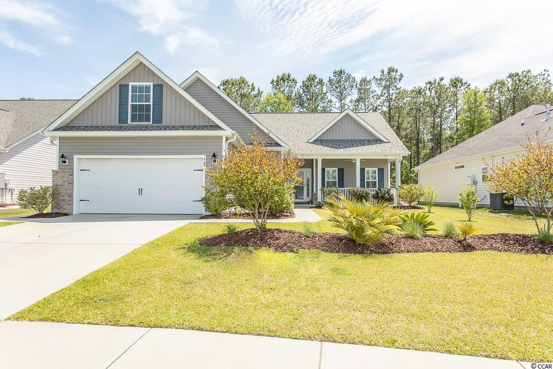 "Don't miss out on this gorgeous home it won't last!  There have been many upgrades to the home since their recent purchase:  complete home custom painted; new carpet in 2 bedrooms as well as on stairs and in bonus room; installed shower bar and replaced shower heads; added plantation shutters in the master bath, closet and master bedroom; replaced all cabinetry knobs in all bath and kitchen cabinets; installed LED lighting in kitchen and a motion detection light outside the garage.  Shows better than new!  The beautiful ""Dogwood"" Floor Plan With Bonus Room is located in the highly desired ""Barons Bluff North"" Community, which offers all of the right features and benefits.  Features include but are not limited too: Great Open Floor Plan with no wasted space, Large Foyer area, large eat in Kitchen With Granite Counter tops, Covered Rear porch with a 12x10 Grilling Patio.  This is a Spectacular 4BR-2BA split bedroom plan.  This home is gorgeous and newly upgraded, very well maintained and is move-in ready! Located on a premium lot with a waterfall lake view in the front of the home and a beautiful nature view in the rear. This home has excellent curb appeal!    The stunning home features beautiful hardwood flooring in the living area, kitchen, dining room & master bedroom. The spacious and open floor plan has plenty of natural light. The comfortable living room has a fireplace with custom built-ins. The kitchen features an abundance of 36"" and 42"" ""Profiled"" Kitchen Cabinets with Crown Molding cabinetry with pullout drawers, a large walk-in pantry, stainless steel appliances, granite countertops, gas stove, breakfast bar, pantry and a new dishwasher & microwave. The beautiful large master bedroom has a walk-in closet, a bow window ideal for a sitting area, a tray ceiling & ceiling fan. The master bathroom has double vanity with high countertops, a large linen closet and a comfort height toilet.  Located off the living room is a beautiful large screened porch and patio perfect for entertaining or watching the birds. A very nice 10x10 detached shed is in the backyard perfect for a man cave, a she shed or for storage.. Also there is a gas bib for a gas grill and generator. The garage is completely trimmed and painted with a drop down storage access which is floored for your convenience, it has a slop sink, workbench and custom wrap around shelving included.  The luxury of natural gas includes a tankless hot water heater, gas heat, a gas stove & oven.  The windows  are""Low E"" Energy efficient.  The home includes an upgraded insulation package.   Barons Bluff is a beautiful community with Lakes, Street Lighting, Sidewalks, Pool, and Cabana Area. Barons Bluff North in Conway's most highly desired New Home community that is very conveniently located near HWY 22, International Drive, Carolina Forest, and Award Winning School District.   ***Buyer is responsible for all measurements & verification."