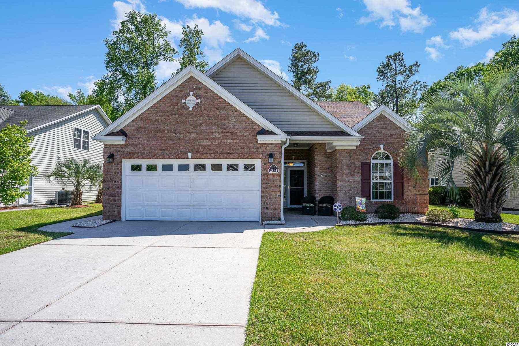 Located in the low HOA community of Fox Chase, this 4 bed, 3 bath home is situated on a lot that backs up to the trees. Home features an open floor plan w/ a a beautiful catwalk looking over the living space. The kitchen offers a breakfast bar, lots of counter & cabinet space and an eat in area. The Master suite offers a large space with walk in closet, separate sinks & vanities, garden tub and separate shower.  The remaining bedrooms are spacious and offer ample closet space. The outdoor space is perfect for cookouts with family and friends or just relaxing. Community is located in an award winning school district.  Conveniently located to unbelievable dining & entertainment, The Marshwalk, fishing piers, Brookgreen Gardens,  the ICW, beautiful beaches & so much more. Call today to schedule your showing!