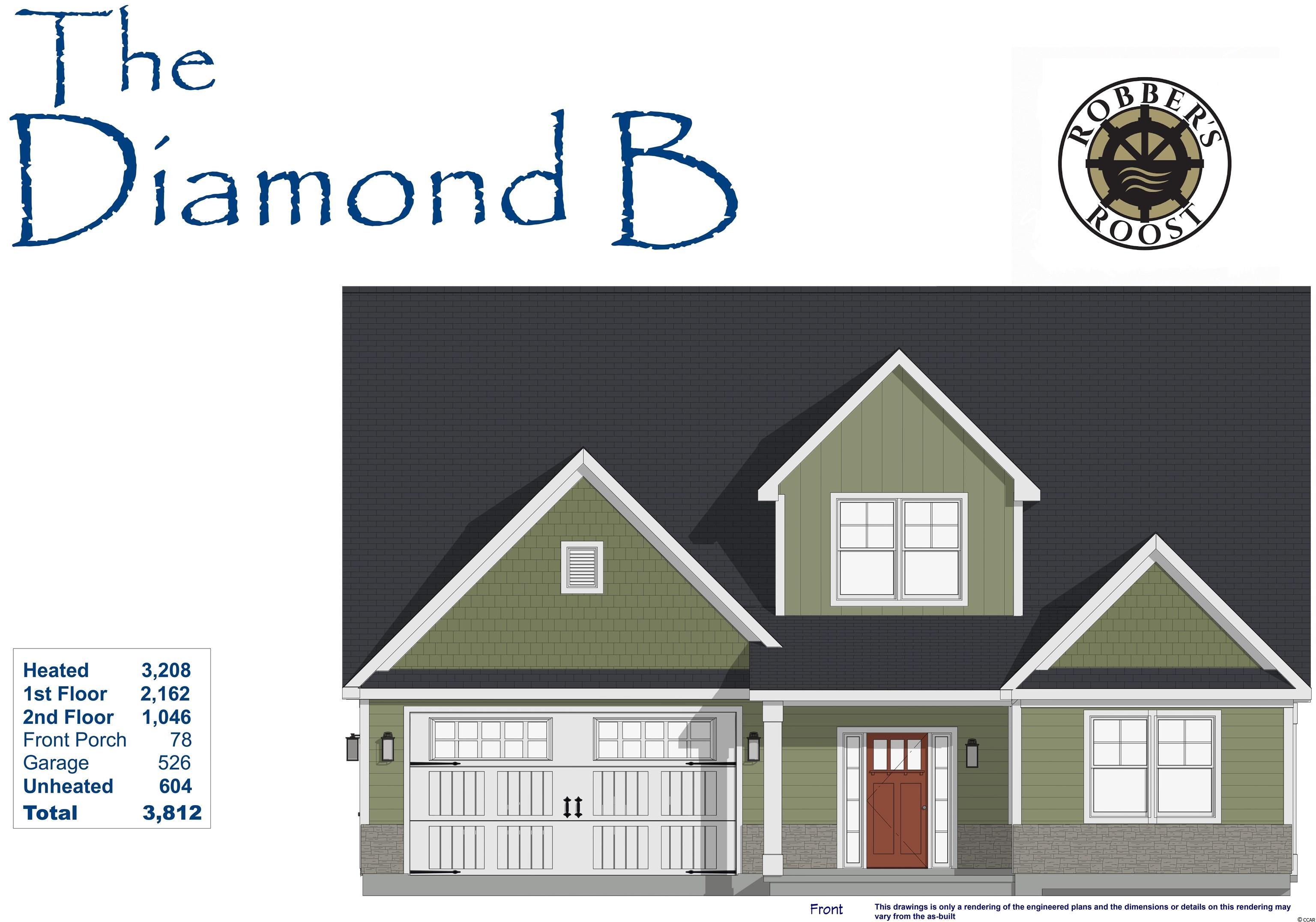 Our Jade III 2G Model has so much to offer ~ 4 Br/3ba 2-story home with 2 Car + Golf Cart Garage! The first floor boasts a huge living room,  kitchen with free standing gas convection range, over-the-range sensor microwave, energy star dishwasher, granite countertops, garbage disposal, pantry & large dining area. Fantastic Master Suite with a large walk in closet & bathroom with walk-in shower and double sinks as well as 2 other bedrooms, a full bath and a laundry room.  Second floor has a large bedroom, a playroom, a full bath & storage space. Energy savings features include Low E windows, 14 Sear HVAC, Digital WiFi Programmable Thermostats, Tankless Gas Hot Water Heater & 200 Amp electrical service, security system with keyless entry.  Too much to mention so come see for yourself! From the time you step onto the quaint from porch & open the front door you'll see the quality of construction. 9' flat ceilings, wide plank restoration flooring, luxurious carpet in bedrooms, vaulted/tray ceilings & a wonderful open floor plan.  Additionally, Robber's Roost at North Myrtle Beach is a natural gas community east of Hwy 17 with a community pool coming for the 2020 swimming season & is located within walking, bicycle or golf cart distance to Tilghman Beach, the beautiful Atlantic Ocean w/ 60 miles of white sandy beaches and is close to Coastal North Town Center (shopping, dining, beauty, pets), Shag dance capital Main St., golf, boating/fishing in the ICW, entertainment and all the amenities of living in Coastal South Carolina. Whether a primary residence or your vacation get-a-way, Don't Miss ~ come live the dream!  (*Many new lots/plans to choose from!)
