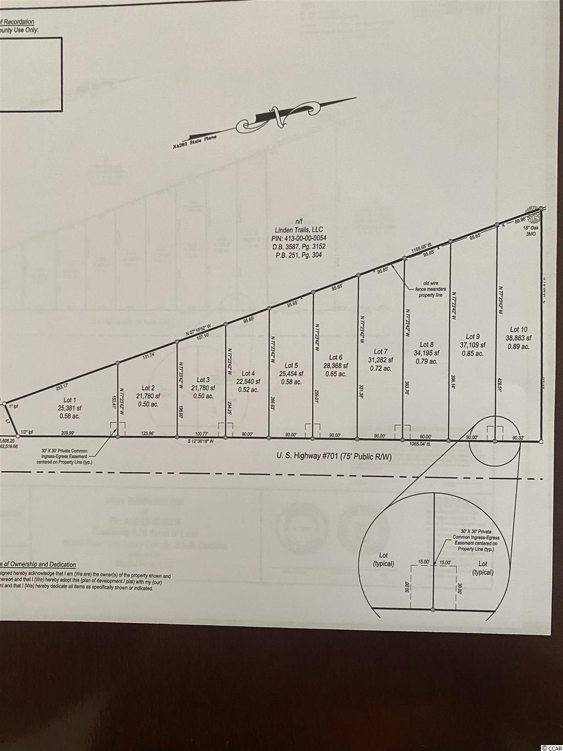 10 lots available that are cleared and ready to build on. Public water and sewer is available. Buyer will have to pay tap fee's. Larger lots available.