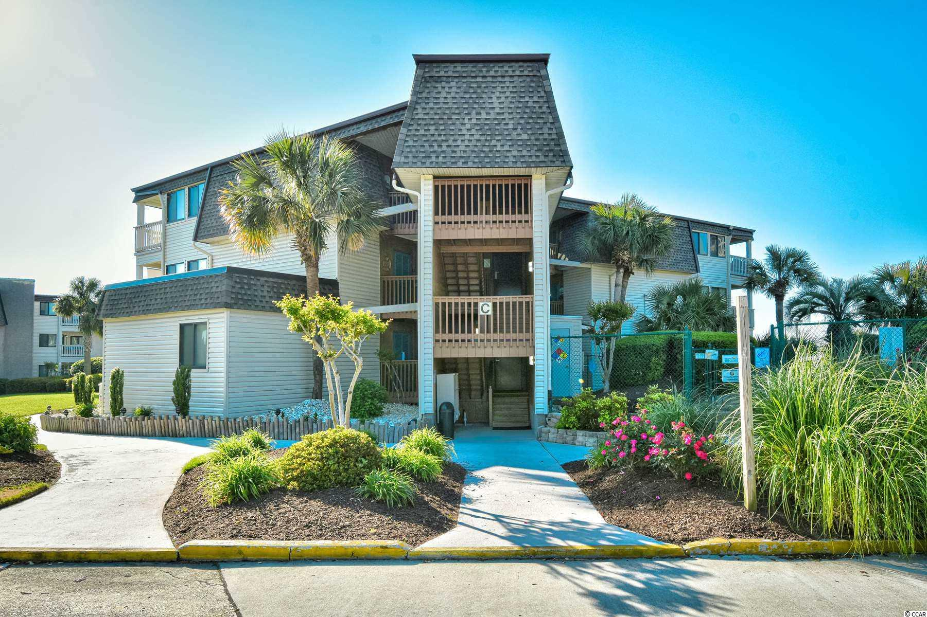 Welcome home to this fully furnished 2 bedroom, 2 bathroom 3rd floor unit in the highly sought after oceanfront community, Ocean Forest Villas. This unit features a spacious open floor plan of the main living areas, allowing room for the whole family to gather. The kitchen is equipped with all appliances, a breakfast bar, and a dining area. Each bedroom includes a ceiling fan and access to its own bathroom, while the master also includes access to your balcony with an ocean view! Enjoy the miles of ocean views from your living room or master bedroom, and spend your afternoons at the great amenities downstairs. Ocean Forest Villas offers 2 community pools, an oceanfront sun deck with picnic and grilling areas, private beach access and more. Perfectly situated in the heart of Myrtle Beach, close to all of the Grand Strand's finest dining, shopping, golf, and entertainment attractions. Whether you are looking for a second home on the beach or your next investment, you won't want to miss this. Schedule your showing today!