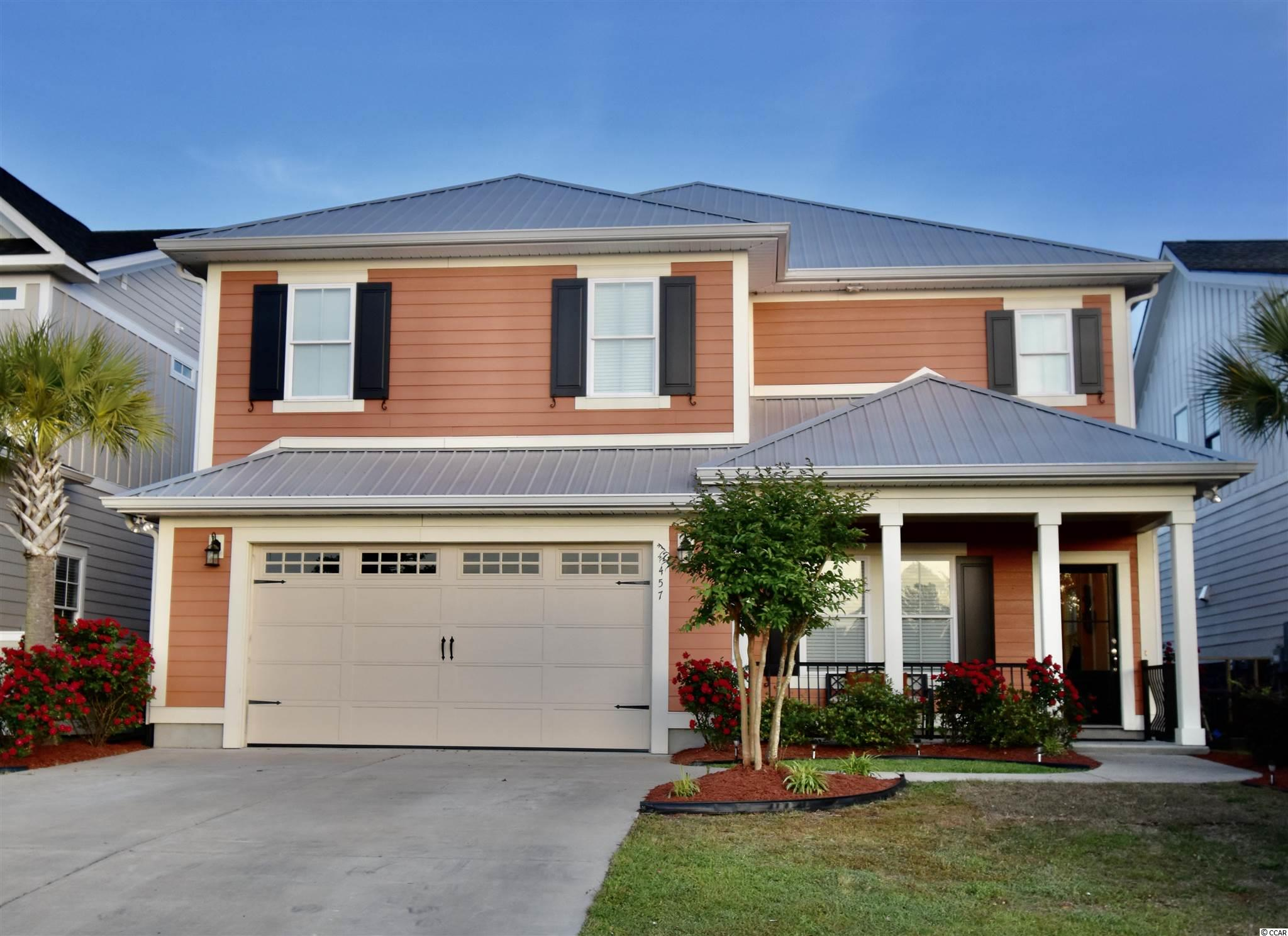IntraCoastal Waterway living at its Best --- Home is located directly on the desirable IntraCoastal Waterway in Myrtle Beach! This move-in ready Custom Built home has 4 Bedrooms and 2 1/2 Half Baths in the Boardwalk at the Waterway gated community. You will immediately enter through the spacious Foyer and adore the open floor plan.  The Family Room boosts views of the salt water pool & waterway. The kitchen is great for entertaining including breakfast bar, pantry, granite countertops, stainless steel appliances and leads to the Dining area. Downstairs bedroom is currently used as a Study/Home office but can easily be used as the fourth bedroom and has an the adjacent bathroom. Wood plank tile can be found throughout the downstairs. Upstairs you will find the oversized Master Suite featuring a spacious room, double tray ceiling, garden tub, double sinks, granite countertops, tile flooring, large walk-in closet and a separate tiled shower with glass enclosure. You will aslo find two additional Bedrooms, a full Bathroom, and the second Family Room. Glass doors lead you to the outdoor balcony with breathtaking views either from the Master Suite or upstairs Family Room which runs the length of the home. To complete the home, the fenced backyard boasts 50' of waterfront featuring a private 6' x 20' dock with boat lift that will accommodate up to 10,000 lbs. Located close to the heart of Myrtle Beach --- close to shopping, dining, grocery stores, schools, pier fishing, ocean & so much more! The community includes a boardwalk which runs the full length of the community on the IntraCoastal Waterway, gazebo, private boat ramp, day dock, and gated outdoor boat storage.