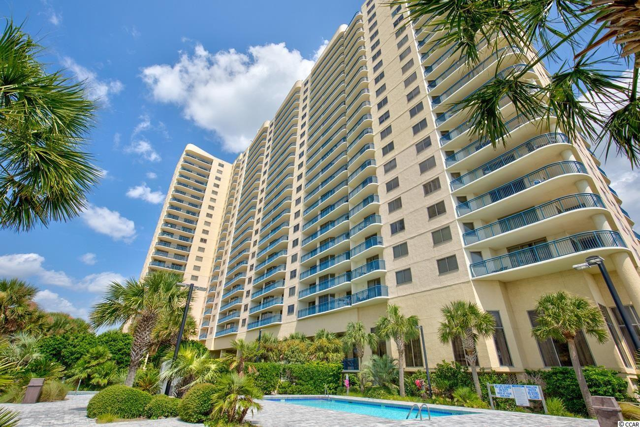 This ocean-front corner residence offers an encompassing view of miles and miles of the famous Myrtle Beach coastline from its L shaped balcony. Updated and meticulously maintained, it is turn key for the rental market as well as personal use. This unit has a great floor plan - offering a three bedroom/ three bathroom lock-out, which allows for the greatest of flexibility of use as it can be rented as a one bedroom, as a two bedroom or as a three bedroom. Decorated in Tommy Bahama furnishings and decor, the almost 1900 sq feet of living space is spacious and comfortable. The views from every room of the ocean offers an ideal work from home retreat. 350 sq feet of balcony has plenty of room for enjoyment to watch the beach goers and sunsets.  Brighton Towers is located in the 145 acre gated resort of Kingston Plantation. Kingston offers a combination of amenities and preserved natural environment that is not replicated in our area. Enjoy one half mile of ocean front sandy beaches, acres of freshwater lakes and mature and manicured landscaping. Resort Amenities include multiple swimming pools, amenities at 2 oceanfront hotels, tennis, pickleball, a brand new fitness center and spa, children's playground, walking trails and a beach volleyball court. Kingston is ideally located between Myrtle Beach and North Myrtle Beach with shopping, dining and entertainment only a short drive away. Perfect as a primary or second home this condo also offers great rental income and makes this property an asset to the any portfolio.
