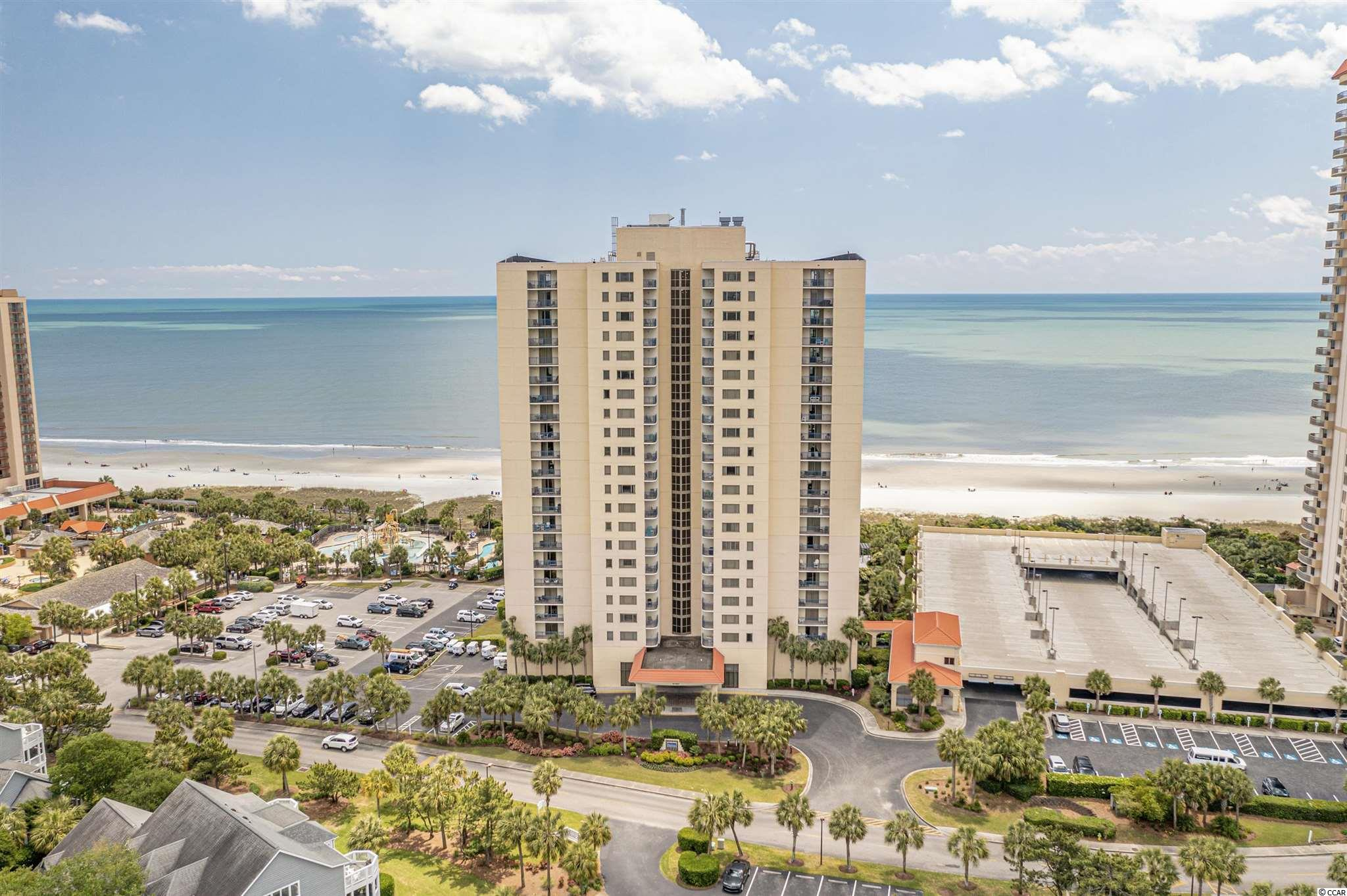 The Brighton is an oceanfront resort in beautiful Kingston Plantation. This 2 bedroom 2 full bath fully furnished condo has large bedrooms with a 200 sq ft. south side ocean view balcony.   This condo comes fully furnished and includes full size washer/dryer. The master suite bath has a newly tiled walk in shower and jacuzzi tub. Master Bedroom has  balcony access and gorgeous ocean views. Some recent updates include: new elevator, building and balconies have been resurfaced and painted, renovated lobby, and pool area. New HVAC 2020 and New 100 Gal Hot Water Heater 2019.  Kitchen has granite countertops along with newer appliances. There are ocean views from just about every room! Kingston Plantation is a 145 acre oceanfront resort with 24hr gated security and has numerous amenities including ocean front water park, tennis courts, new spa and fitness center, tennis courts, (golf cart friendly) to mention just a few.  All this is located on 1/2 mile of ocean front beach.
