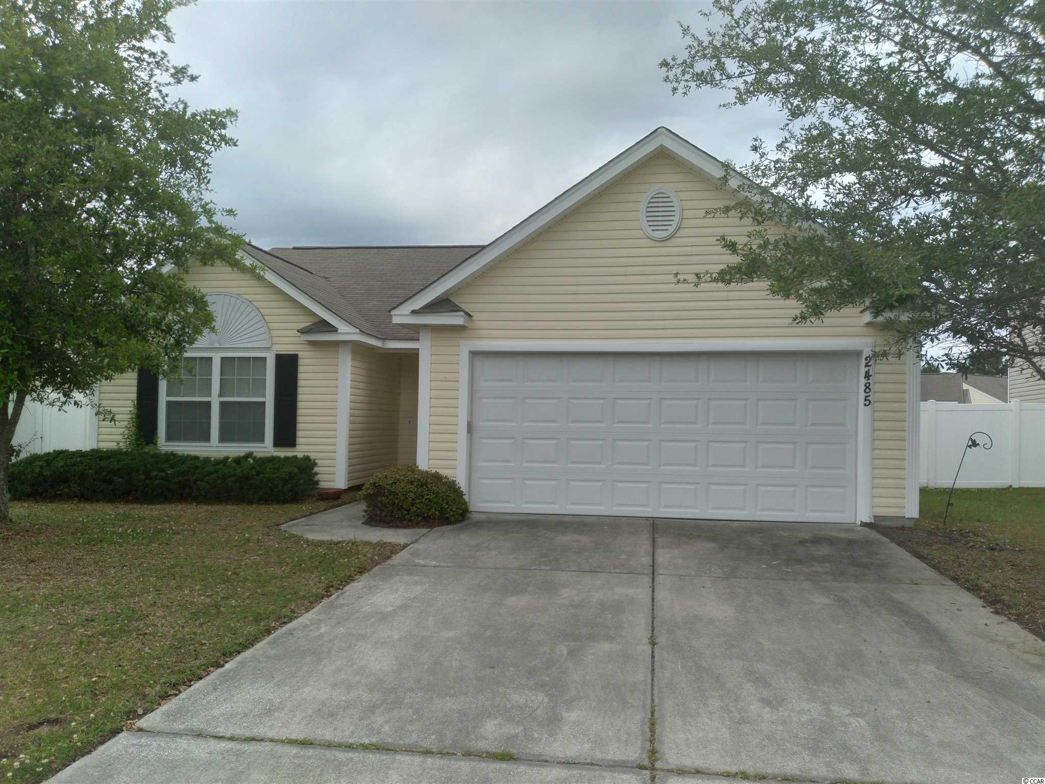 Welcome to your spacious home in the sought after Avalon subdivision of Carolina Forest. Close to all of the shopping and dining options on 501 and International Dr., this 3 bedroom, 2 bath home with a 2 car garage is ideal for a single family dwelling or as an investment property; with great long-term rental possibilities.  The low HOA fee includes top notch amenities in a beautiful park setting: pool, outdoor basketball courts, fields for soccer or baseball and more!  The seller is offering a credit at the closing table for an agreed upon offer to help with any desired upgrades.  Don't miss out on this great opportunity; this home won't last long so call the listing agent today to schedule your personal showing.  Professional photos will be added soon.