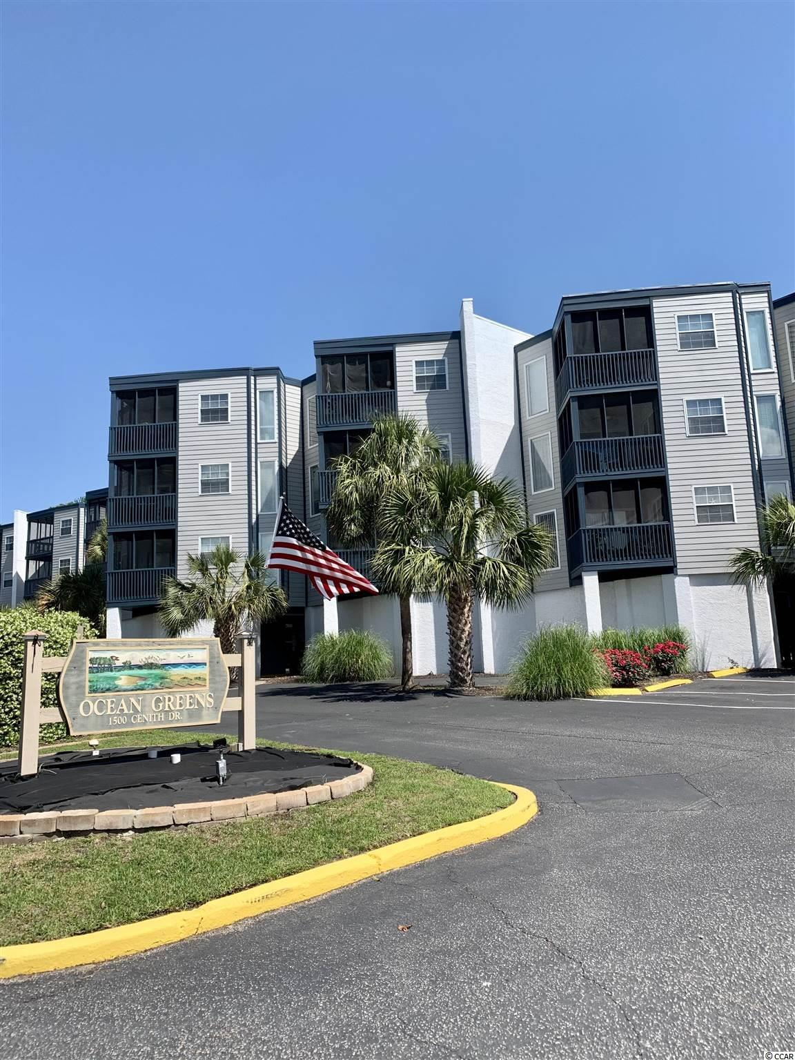 Second floor, fully furnished, end unit in the heart of North Myrtle Beach awaits the perfect buyer. This two bedroom, two bathroom split floor plan allows for private space, and an open concept living/dining/kitchen combo. The current owners reconfigured the kitchen island to make a more open, flowing space. With luxury vinyl plank and tile throughout the condo, it is easy to maintain and looks great. When walking out onto the screened porch take notice two new sliding glass doors with built in blinds, and new tiled flooring. The space flows well inside, and the amenities outside are ample. From the on site pool, to the nearby parks, golf courses, restaurants and shopping, there is always something to do. Or if rest and relaxation is on the menu, take your golf cart (which can be parked on site) on a five-minute ride to the white, sandy beaches of the Atlantic Ocean. With no restrictions on long term or short term rental this condo can be used as a primary residence, an income producer or a second home.  Make an appointment today to view this privately situated haven.