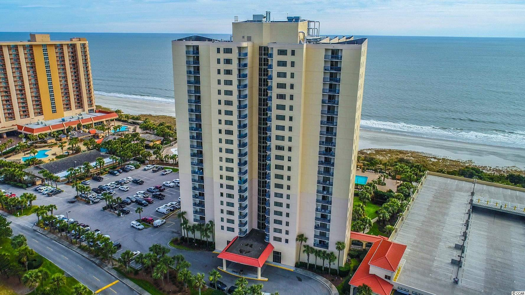 Oceanfront 2BR/2BA corner unit in the Brighton Towers at Kingston Plantation. Amazing ocean views from this wrap around balcony, located on the first level of condos in the building for a super convenient location but well above the actual ground level. Sold completely furnished with upscale interiors, granite countertops, tile and wood flooring. Brighton is a great building, excellent as a primary residence, second home or vacation rental. Located with the gated Kingston Plantation community, tons of amenities for the entire family to enjoy. Jump on this one for the summer!