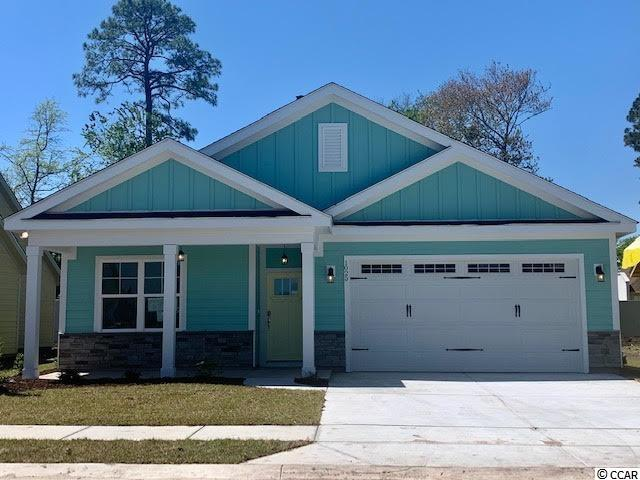 Emerald 1 Model new construction 3br/2ba one level home with an office &  2 car garage in Robber's Roost!  This great floor plan with 1,800 Htd Sqft. features LVP flooring, Owner's Suite, open kitchen with stainless appliances & Granite countertops, living/dining room, laundry room, 2 more bedrooms, an office, laundry room & front porch!  Energy savings features include Low E windows, 14 Sear HVAC, Digital WiFi Programmable Thermostats, Tankless Gas Hot Water Heater & 200 Amp electrical service, security system with keyless entry. Too much to mention so come see for yourself! Additionally, Robber's Roost at North Myrtle Beach is a natural gas community east of Hwy 17 with a community pool coming for the 2021 swimming season & is located within walking, bicycle or golf cart distance to Tilghman Beach, the beautiful Atlantic Ocean w/ 60 miles of white sandy beaches and is close to Coastal North Town Center (shopping, dining, beauty, pets), Shag dance capital Main St., golf, boating/fishing in the ICW, entertainment and all the amenities of living in Coastal South Carolina. Whether a primary residence or your vacation get-a-way, don't miss ~ come live the dream!