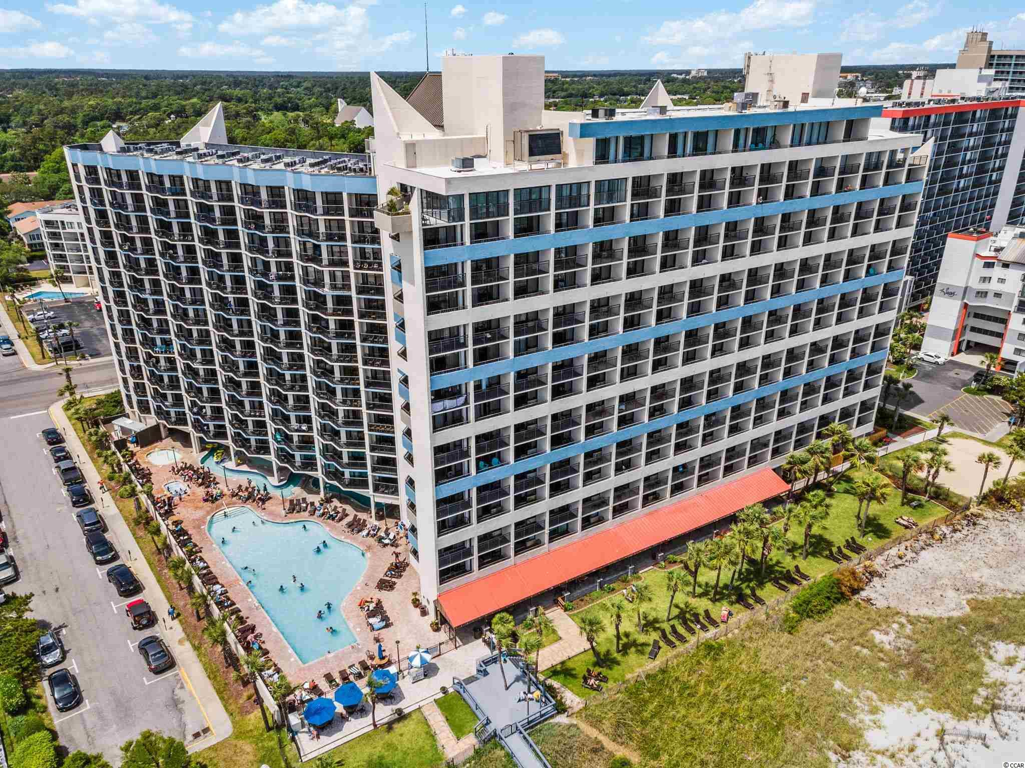 """RARE 2 bedroom / 2 bath condo NOW for sale in the uber-popular Ocean Reef Resort in Myrtle Beach, SC.     There are only 13 of these two bedroom condos in the resort so these rarely come for sale.   # 516 Ocean Reef is ideally located on the 5th floor (not too high, not too low) and has excellent DIRECT OCEANFRONT VIEWS.    This beautiful condo has been upgraded over the years and features:  Granite kitchen counter tops and granite sink tops in both bathrooms; a full kitchen with raised-panel cabinets with bronzed knobs, full size refrigerator, stove/oven, microwave, undermount sink with goose-neck faucet, and a tiled backsplash; NEW HVAC in Oct 2019; new sofa and new mattresses in 2015, and 2 new 43"""" TV's (1 in 2020 and 1 in March 2021); Washer/dryer inside the condo; new triple-sheet bedding in both bedrooms; 2 double beds in the guest bedroom and a queen bed in the owner's suite; designer berber carpeting in the bedrooms, tiled floors in the kitchen, entry, and baths, and wood-look laminate in the living room; a sleeper sofa; crown molding in the living room; framed mirrors and decorative lighting fixtures in both bathrooms, and tub/shower combos in both bathrooms.  You also have a nice-sized balcony with amazing ocean views.     If you DO decide to leave your gorgeous condo, Ocean Reef Resort has every amenity you should expect in your next vacation retreat, including:  Water park with water slides; outdoor and indoor pools, hot tubs, and lazy river; Breakfast restaurant; bar/lounge; sundry shop; arcade; fitness center; gift shop; and outdoor tiki bar (in season).    Finally, it doesn't hurt that these 2 BR condos are some of the highest grossing rental income producing condos we have anywhere in this area.    So, go ahead and treat yourself and finally purchase an excellent condo with all of the bells-and-whistles you deserve!"""