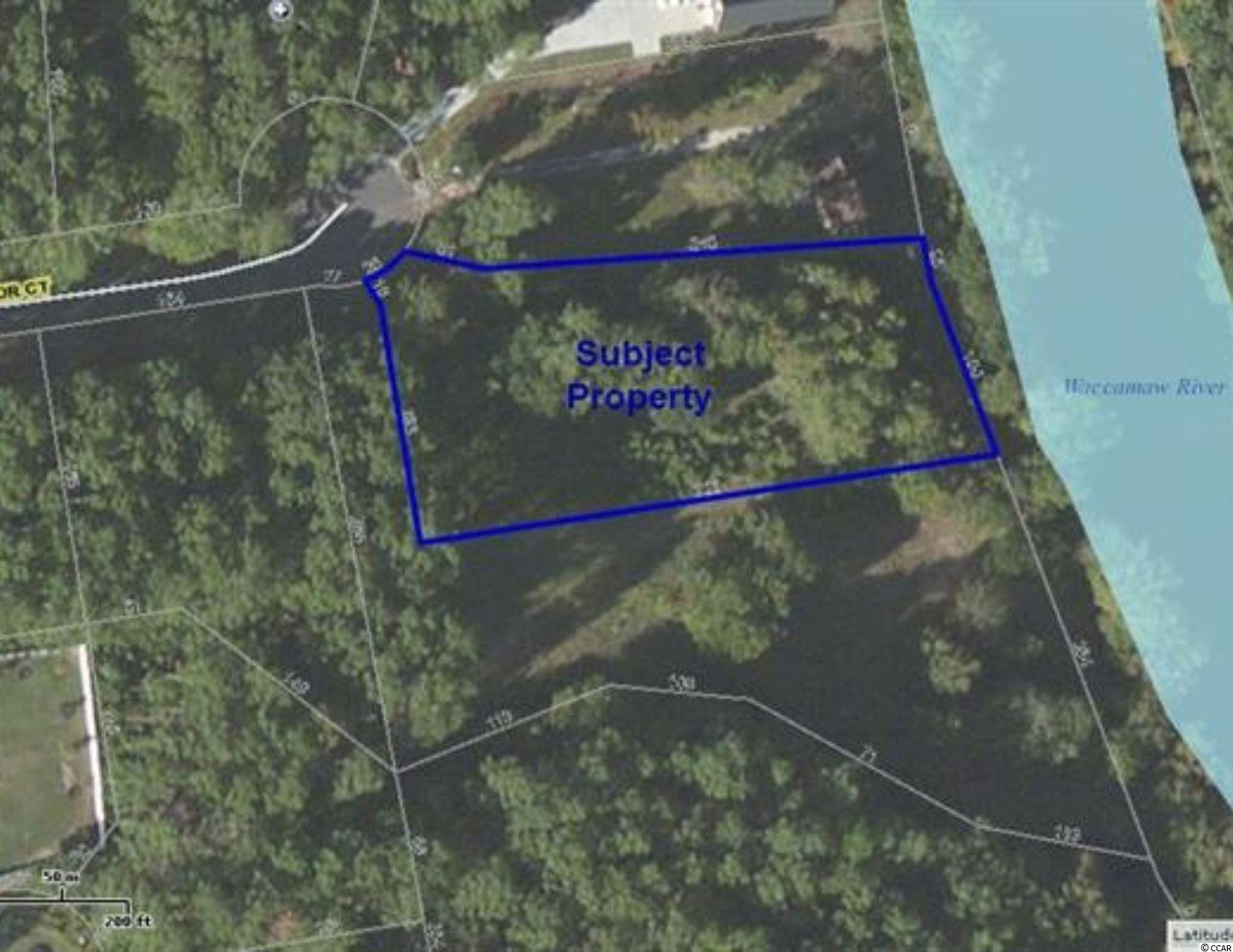 One acre Residential Lot on the Waccamaw River in Caines Landing with 100 feet of frontage on the river. Paved road to lot at end of the cul-de-sac. Community has its own private boat landing close by. Adjoining lot #18 is also available.