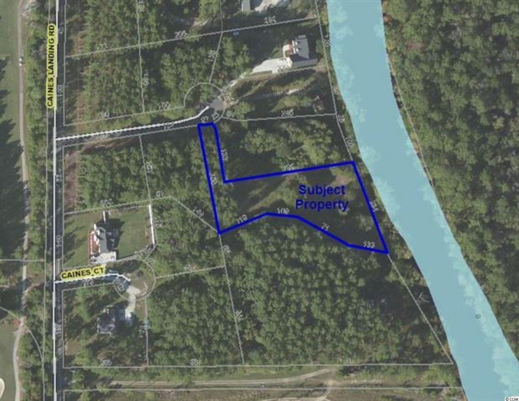 This 1.29 acre lot is located in Caines Landing, at the end of the cul-de-sac on Alligator Court. Property has 234 feet of river frontage on the Waccamaw River! Community has it's own private boat landing close by, along with other great amenities without the HOA fees!  Adjoining lot #17 is also available for sale.