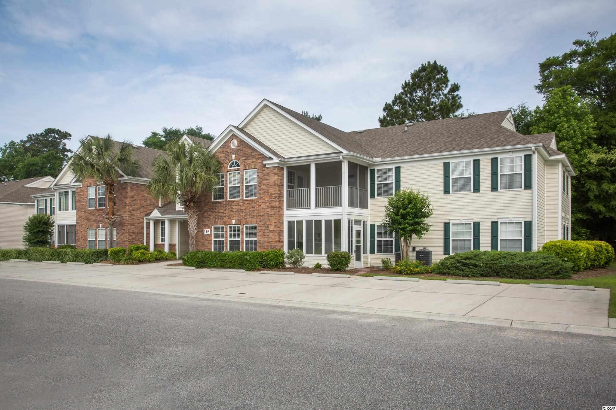 Spacious 3 Bedroom, 2 Bath condo in the popular Sterling Pointe community in Murrells Inlet.  Just 13 stairs up to this move-in ready second floor unit. Recently painted with new attractive vinyl plank flooring installed in the living areas, new living room fan, LED lights, kitchen faucet, stainless steel microwave, outdoor carpet and screening on porch.  Open floor plan with large family room with vaulted ceilings, windows bringing in lots of natural light and door leading to the screened porch.  Kitchen with breakfast bar and range, refrigerator and microwave.  Separate dining area adjacent to kitchen.  Spacious master bedroom with 2 closets and master bath with double sinks, garden tub, walk-in shower and linen closet.  Two good sized guest bedrooms, one with door leading to screened porch.  Guest bath with shower/tub and laundry room.  There is an extra room which can be used as an office, storage, craft or playroom.  Large screened porch will be great for starting your day or enjoying those evening breezes.  Just a short walk to the community pool.  Make an appointment to see!  You will not be disappointed!  Sterling Pointe is conveniently located close to restaurants, shopping, various golf courses, Tidelands Waccamaw Community Hospital, the Murrells Inlet Marsh Walk, the sandy beaches at Huntington State Park , Brookgreen Gardens and Pawleys Island.   Measurements and square footage are not guaranteed. Buyer is responsible for verification.