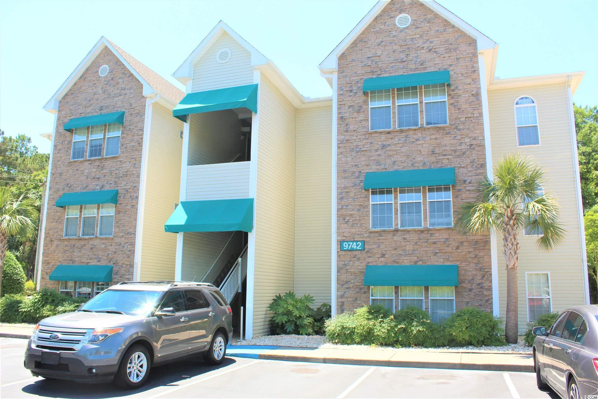 Great opportunity to own a 1 bedroom, 1 bathroom condo located in the gated community of Savannah Shores. This condo features a Carolina Room that can be used as an office, a playroom, or as a second bedroom. There is a full-size laundry room in the condo for even more convenience. To top it all off, this development is well maintained and features a beautiful pool, a tennis court, a playground, a fitness room and even a clubhouse. Located near all area shopping, dining, entertainment, golfing and more! All this and just a short golf cart ride to the beach. Must see to fully appreciate!