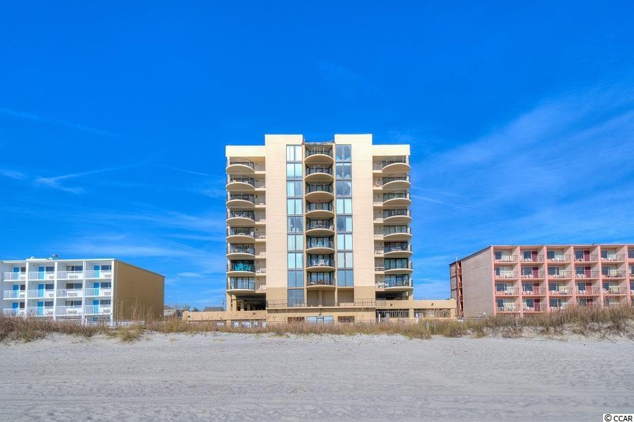 Turnkey oceanfront, 1st floor corner unit with an expansive balcony in Sea Castle, a concrete & steel building with elevators in the Crescent Beach section of North Myrtle. The kitchen in this income-producing condo has been updated with stainless steel appliances and multi-level granite countertops, creating a breakfast bar for additional dining space. The great room offers ocean views and comes equipped with an operational wet bar. There's also an abundance of closet space and storage, which is often lacking on the oceanfront. Sea Castle boasts an oceanfront pool, hot tub, kiddie pool, picnic & grilling areas, an atrium and two levels of parking underneath the building with an overflow lot across the street. Call your agent and schedule a showing today!
