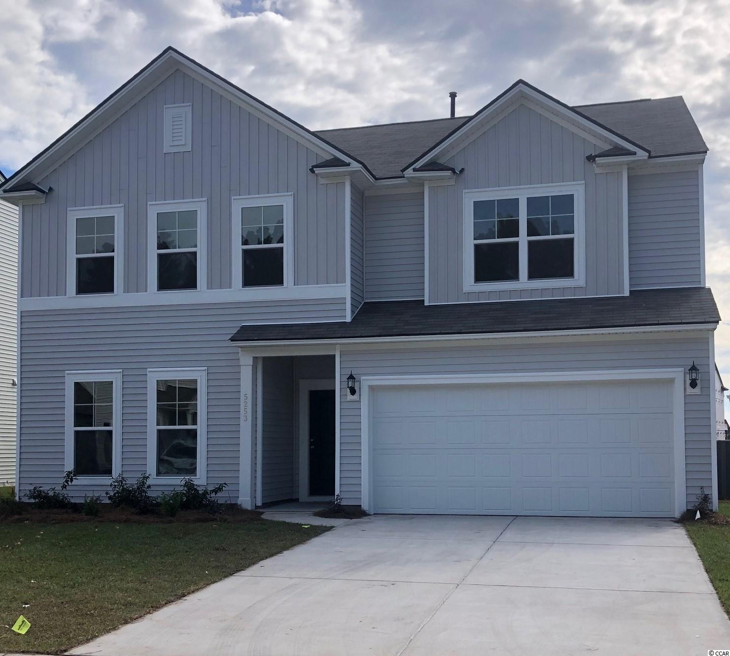 """The Mitchell plan offers a fantastic sized home for the price! The layout for this particular home is 4BR / 2.5BA + Game Room / Loft (@2956 sq ft). You'll love the large Owner's Suite with a bedroom-sized closet. Double vanity, large linen closet, and tiled shower + garden tub in Owner's Bath. This open kitchen has ample cabinet space, a roomy corner pantry, and the 9'6"""" granite island is idyllic! Additional features are staggered cabinet design, stainless steel appliances, and recessed LED lights.  Upstairs is the Owner's Suite, 3 large bedrooms, and an open game room/loft for additional living space. We include an exceptional 10yr Home Warranty with 5-year water infiltration and leak protection as well as great incentives for working with preferred lender. ...ask for details! This """"tucked away"""" section in Clear Pond offers a unique feel and natural setting...a great location within the community.  Completed Clear Pond amenities include 2 swimming pools, fitness center, playground, clubhouse, open green space, and walking paths. This community is conducive to biking, walking, and golf cart rides...a fantastic place to call home! Clear Pond community offers close proximity to everyday shopping, restaurants, recreation, and entertainment and is only 10 miles to the beach. Carolina Forest Schools.  Photos are of a model home for representational purposes only, and may show different options and upgrades selected."""