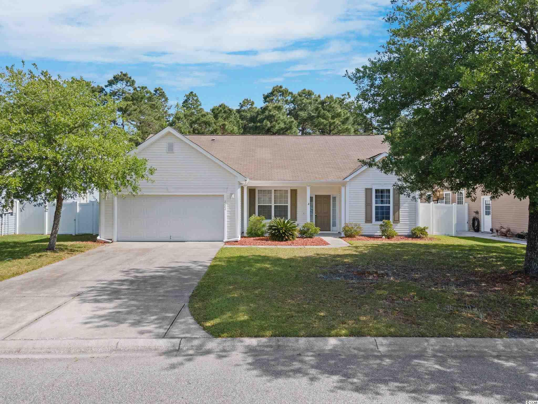4BR-2BA home in Avalon of Carolina Forest! Great curb appeal! The open floor is bright and airy with a lot of natural light. Two patios, one is located off the living room and one off the breakfast nook. The large backyard has a nature view. HVAC replaced in 2015. Avalon is conveniently located close to many major roadways, hospitals, restaurants, shopping and entertainment but in a quiet residential setting. Big Plus is Avalon is located in an award winning school district!
