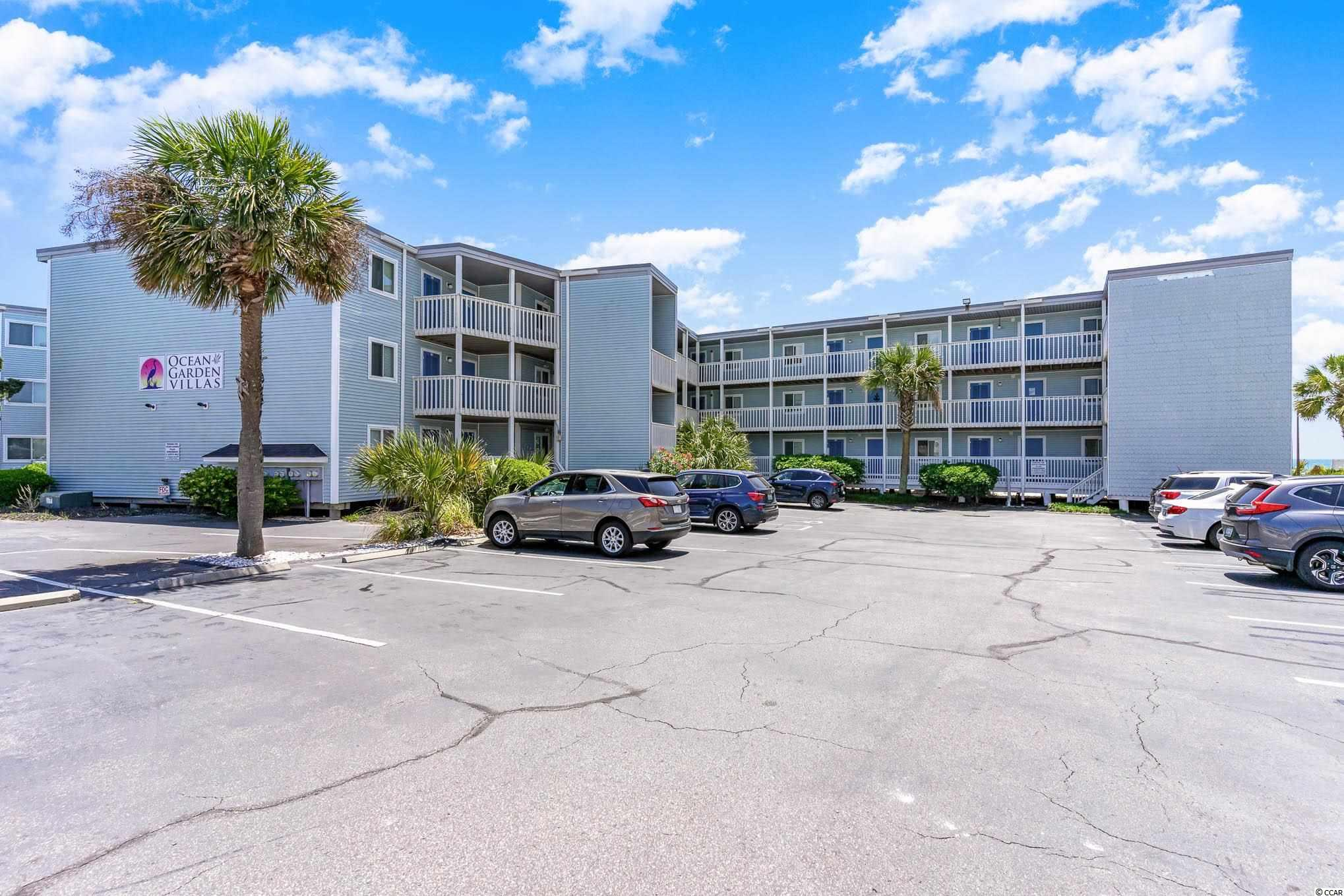 Top floor, oceanfront, move-in ready 2 bedroom, 2 bath condo located in the Crescent Beach section of North Myrtle Beach.  This unit has been very well maintained and has many new upgrades.  The HVAC was replaced in 2019, all new stainless steel appliances in 2019, three new flat screen tv's in 2019, water heater replaced in 2020, washer and dryer replaced in 2020, new living room furniture 2020.  The condo offers ceramic tile throughout, recent paint, and granite in the kitchen.  Very clean and ready for a new owner to enjoy! Ocean Garden Villa is located in close proximity to all of the most popular attractions, restaurants, shopping, and golf.