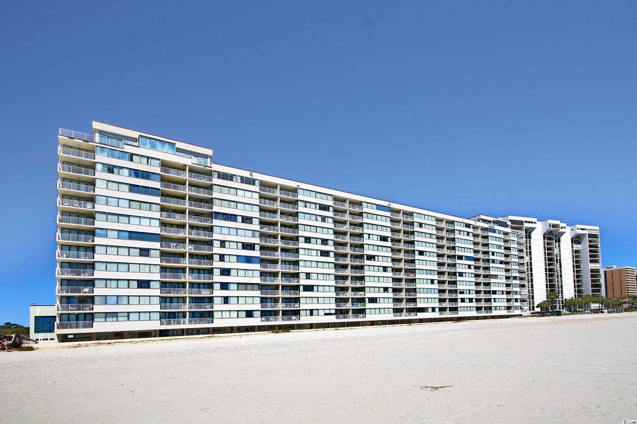 Completely renovated 1st floor, oceanfront unit, with an amazing view of the Atlantic Ocean. This 2 bedroom/2 bath unit is located in the Sand Beach Club and has several amenities such as indoor pool, outdoor pool, tennis courts, and is located just minutes from the heart of Myrtle Beach.