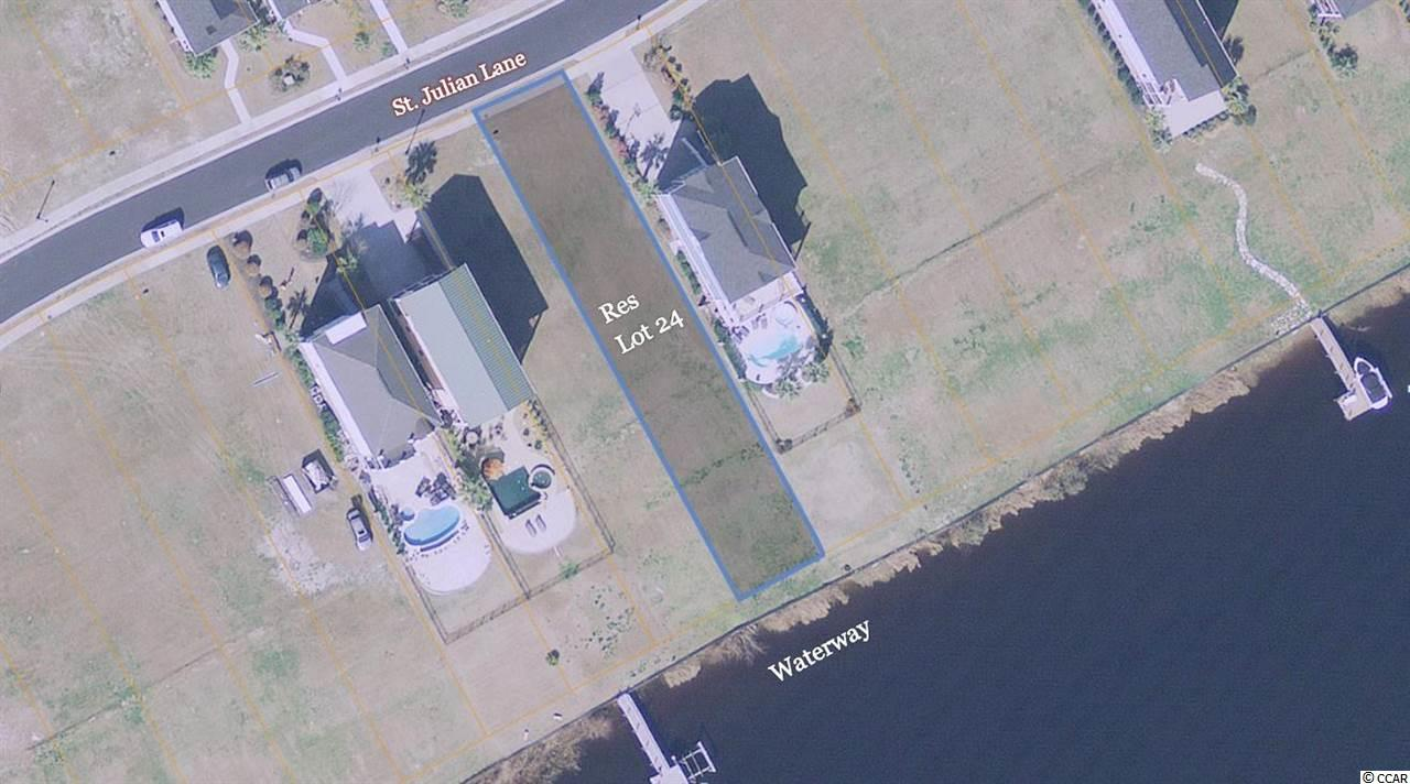 The Best Direct Intercoastal Waterway Lot  in All of Myrtle Beach area, Welcome to The Battery on the Waterway, Located Directly on the Intra Coastal Waterway. This PRIME Lot is Ready to start your Dream Home Lifestyle. There is a Regulation sized Boat ramp, Multiple Day Docks and Even a gazebo for those wanting to just Boat Watch and the Boat Ramp zone.  All of the services are there to site and the Bulkhead is In place and ready to connect to your Boatlift. The Charleston Style homes along the waterway are absolutely World Class in design and architecture. There is also Secured Boat storage in the development.