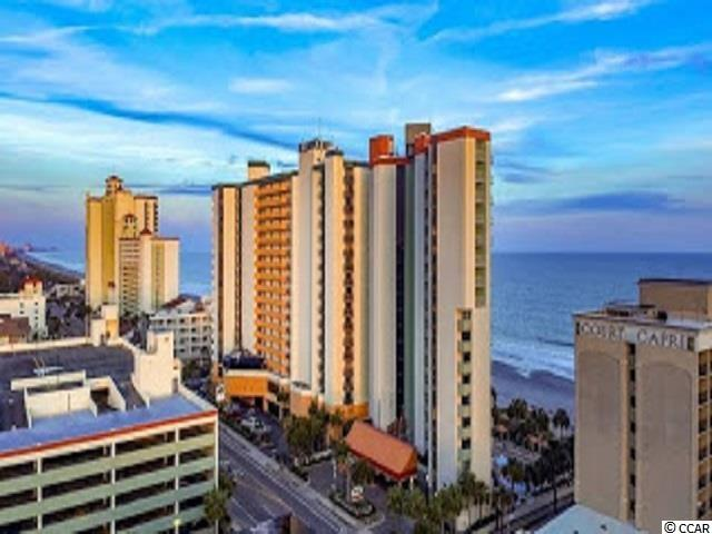 Awesome ocean views can be seen from the 16th floor of this beautiful 2 2BR/2BA oceanfront condo in Myrtle Beach SC. This fantastic end unit is approximately 650-700 ht sq ft of meticulously designed space, with each inch thoughtfully planned to maximize your living space and vacation experience. This condo has two private bedrooms and two full bathrooms including the sofa sleeper in the living area, this unit easily sleeps 6. The condo has a huge balcony with outdoor furniture to relax and enjoy the spectacular ocean views as well as great views of the beautiful swimming pool. The kitchen has a full kitchen with a range, refrigerator, microwave, dishwasher and beautiful cabinets with gorgeous granite counter tops. The living room area and kitchen have large windows and sliding glass doors which provide tons of natural sunlight and beautiful views of the ocean. The hotel amenities include a fitness room, multiple pools, an outside snack bar, a green lawn with lounge chairs, and the Market Restaurant. The Strand, formerly the Breakers Boutique is located on the oceanfront in the heart of Myrtle Beach. Enjoy morning walks along the beach, swimming and soaking up the sun in the afternoons. Located close to all Myrtle Beach area attractions including Broadway at the Beach, golf, Myrtle Beach Boardwalk, Myrtle Beach Pelicans, shopping, entertainment and dining.
