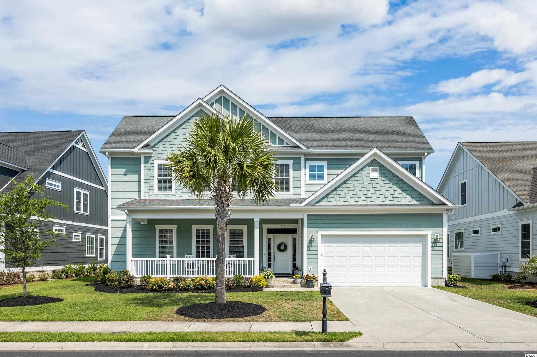 Beautiful 5 bedroom, 3.5 bath family home located in Waterway Palms Plantation, one of Myrtle Beach's most popular neighborhoods! This home offers an open floor plan with upgrades galore, starting with the porcelain tiled floor which has a wood look throughout the foyer, kitchen, dining and family room. The kitchen features an oversized counter height island, stainless appliances, custom cabinets, granite countertops, tiled backsplash and a large walk-in pantry. This home has a unique floor plan for this neighborhood. The 1st floor has a split-bedroom plan with the Master Bedroom on one side and 2 additional guest bedrooms which share a Jack and Jill bath on the other.  The second floor has a loft area that can be used as a second living room. Also on this floor is bedroom #4 with a full bath and a 5th bedroom that is a 21 X 28 bedroom/recreational room, that could be used for a gym, home school, office space or whatever else your needs may be. This home is situated on a .20 acre lot with a view of the pond and a fenced yard. Waterway Palms is a gated Intracoastal Waterway community in the award-winning Carolina Forest School District. This great family neighborhood offers a boat ramp, boat storage, day dock, state of the art club house with recreational room, meeting rooms, gym, tennis courts, basketball courts, bocce ball court and planned community activities and events. This home will not last long as there is limited inventory available. Call today for your private viewing!