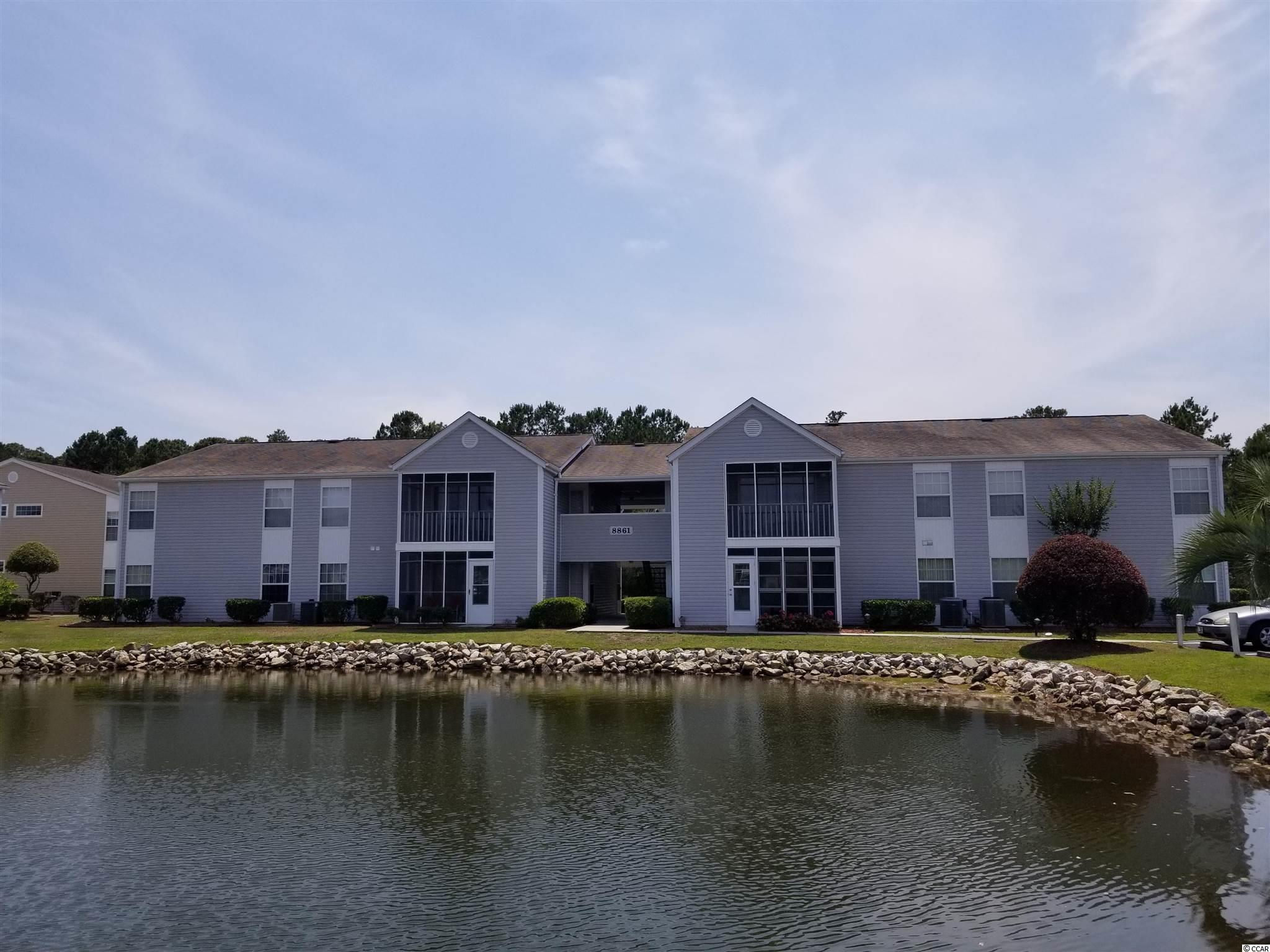 Located conveniently off Highway 17 Bypass in Surfside, straight shot down Glenns Bay Rd to the town limits of Surfside Beach and the ocean. This is a ground floor corner unit with 3 BR, 2 BA, laundry room, screen porch and storage room. Really good floor plan for primary residence or 2nd home. South Bay Lakes has community pool.