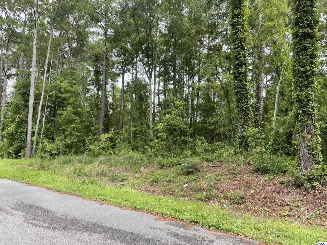 A outstanding opportunity to build your dream home on this wooded, 3/4 acre plus lot on a quiet street.  Just minutes from the beach, schools and all the fun North Myrtle Beach has to offer.