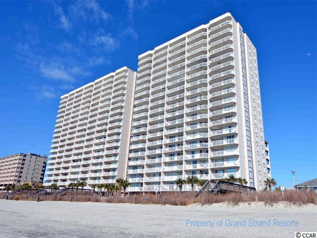 This 2 Bdrm/2 Bath unit is located on the 4th floor of Crescent Shores South Tower. The 1450sq ft unit has a 26' oceanfront balcony that allows access from the Living Room and Master Bedroom. The fully equipped kitchen includes dishwasher and microwave and granite countertops. Full size washer/dryer in unit. Flat screen TV with cable/DVD in the Living Room. Free wireless internet. The master bedroom offers 1 King size bed, flat screen TV with cable, ceiling fan and master bathroom has a double vanity, jacuzzi garden tub, and separate glass enclosed shower. The guest room has 2 Queen beds, flat screen TV with cable and ceiling fan.  Parking garage height 6 feet 8 inches.