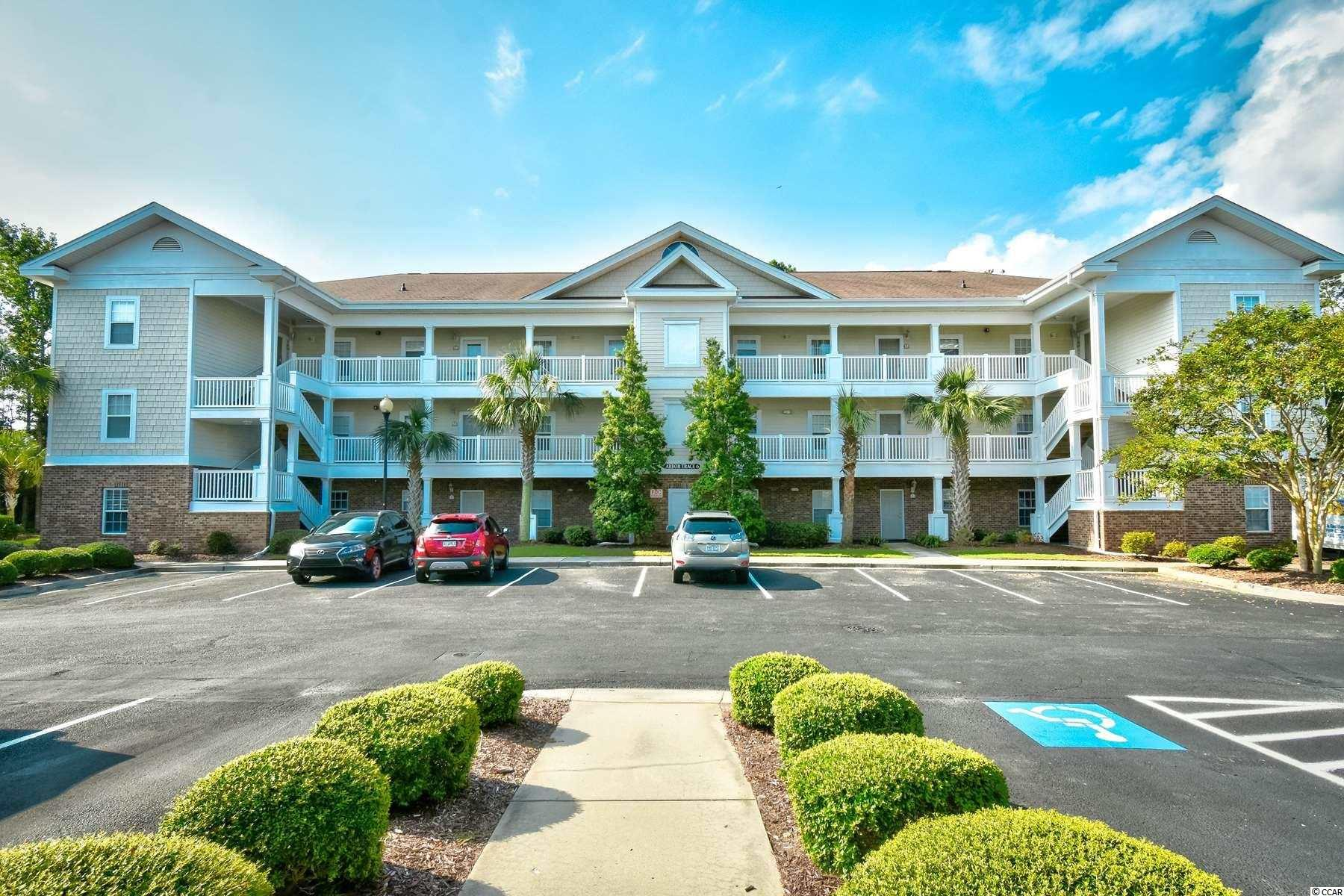 This beautiful top floor End unit 3 BR/ 2 BA Condo is located in the smallest and highly sought after golf villa community of Arbor Trace located within Barefoot Resort. Kitchen countertops have been replaced, both bathroom countertops have been upgraded to granite, New Hvac and hot water heater in July of 2018 as well as recently replaced washer and dryer. Every amenity you could ever ask for is just a short golf cart ride away starting with 4 Championship Golf Courses (Dye, Fazio, Norman and Love), two outdoor swimming pools, and a soon to be finished beach cabana on the Atlantic Ocean with private parking for owners. Conveniently located just a mile from the popular Barefoot Landing, which features two concert and entertainment venues, lots of shopping and a variety of great restaurants with beautiful intracoastal views. You do not want to miss this opportunity, Contact your agent today for more details.