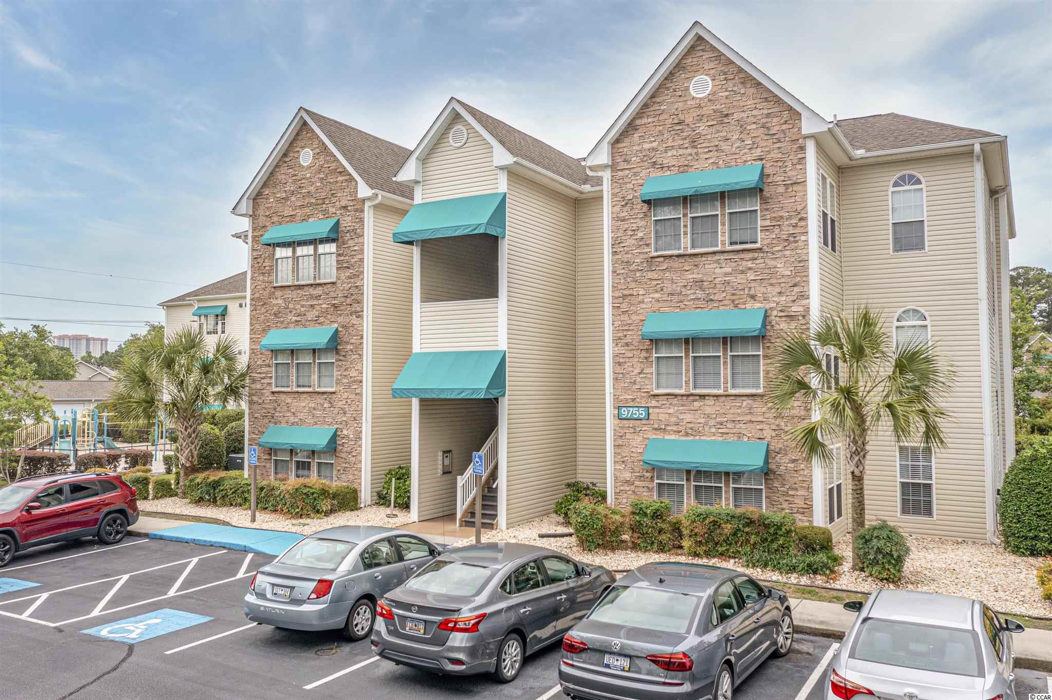 """This is a great opportunity to make this condo your own with a little TLC. This one bedroom and one bathroom condo is being sold """"as-is.""""  A very charming top floor, end unit with a Carolina Room, a fireplace, a wet bar, laundry room with a washer and dryer and a lot of storage. Savannah Shores is a gated community in the Arcadian section of Myrtle Beach. This community offers great amenities with an outdoor pool, putting greens, a playground, tennis courts and a clubhouse. Only a golf cart ride to the beach and close to Tanger Outlets, Myrtle Beach Mall and many other great shops and restaurants. Schedule a time to see this condo for your place at the beach."""