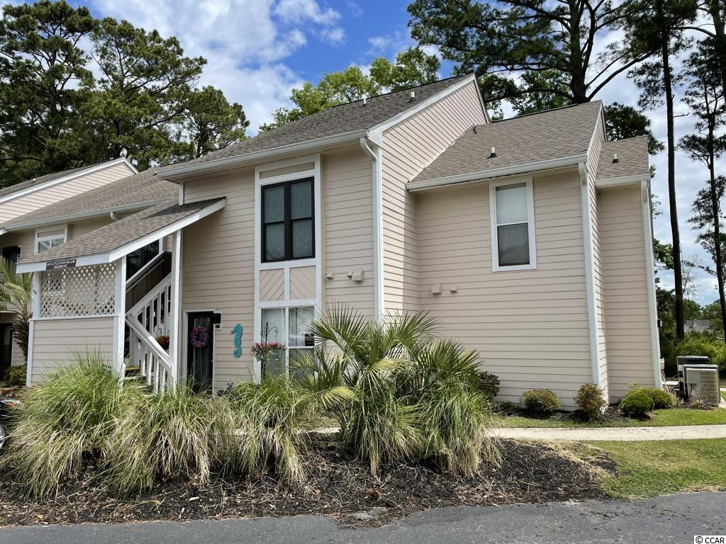 This two level condo has 1 bedroom and small office/flex room and two full bathrooms. Condo needs work but is in a great location in Little River Inn in Little River. Backs up to Bridgewater new home neighborhood. Great for an investment or primary residence.