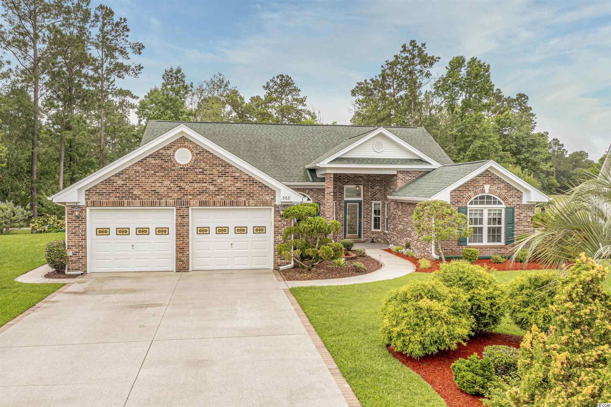 Unique, One of a Kind Custom Built home in desirable location of Southcreek Myrtle Beach National Golf Course. This Rare All Brick Home in this community offers 3 Bed 2 Bath on a quiet cul de sac; Immaculately well taken care of with all the bells and whistles added. Enclosed All Seasons Large Rear Porch to enjoy year round. Bonus Room and Oversized Extra Large 2 car garage with workbench, cabinets, washer and dryer and work sink. Real Hardwood flooring in home. Way too much to list here, you won't want to miss seeing this one. Schedule a Showing today. Ideally located just west of Carolina Forest and all the great local stores, restaurants; hospital, medical facilities and shopping near by. Super close to the best beaches around the Grand Strand.