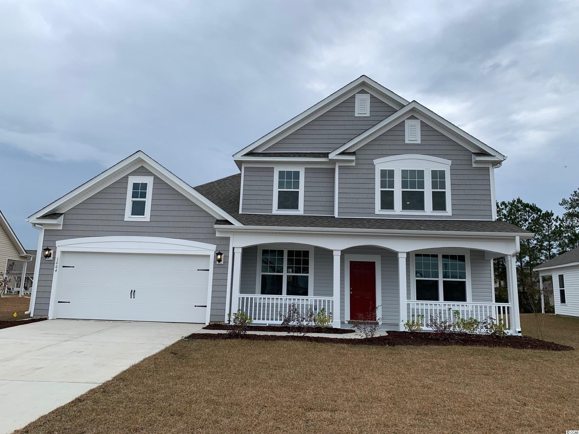 This Ivey-SHL (Shingle elevation) home offers 3 bedrooms, 2.5 baths, a study, a loft, a formal dining room, a spacious kitchen open to the great room, and a screened porch.  This Ivey has been personalized with incredible included features: easy maintenance REV Wood laminate flooring by Mohawk in the living areas, Mohawk carpet in all bedrooms, the study, and loft, Daltile tile in all baths and the spacious laundry room.  The kitchen and butler's pantry boast granite counter tops and luxurious Level-2 Flagstone Master Brand cabinets and stainless steel Level-2 Whirlpool kitchen appliances (natural gas range with double oven, microwave over the range, dishwasher).  Staunton Pendant lights from Progress Lighting will illuminate the large kitchen island.  Fresh white Level-2 Master Brand cabinets will brighten bath 2 and the primary bath.  A beautiful stairway featuring open rail iron balusters leads upstairs to the loft and private bedrooms 2 and 3.  A fabulous large 4-panel sliding glass door in the great room offers access to the screen porch and outdoor living area.  Agreeable Gray Sherwin Williams paint and Moen plumbing fixtures add to the upscale features of this home.  This Ivey is an Energy Star Certified home creating more comfort at a lower cost.  Belle Mer amenities include a community pool, clubhouse with a gathering room, catering kitchen, and exercise room, sidewalks throughout, fishing and non-motorized boating lakes, and weekly curbside trash collection.  Belle Mer offers a premier location between Myrtle Beach and Murrells Inlet off Bypass-17, conveniently located across from 3 large shopping and dining venues, and less than 3 miles to the beach.