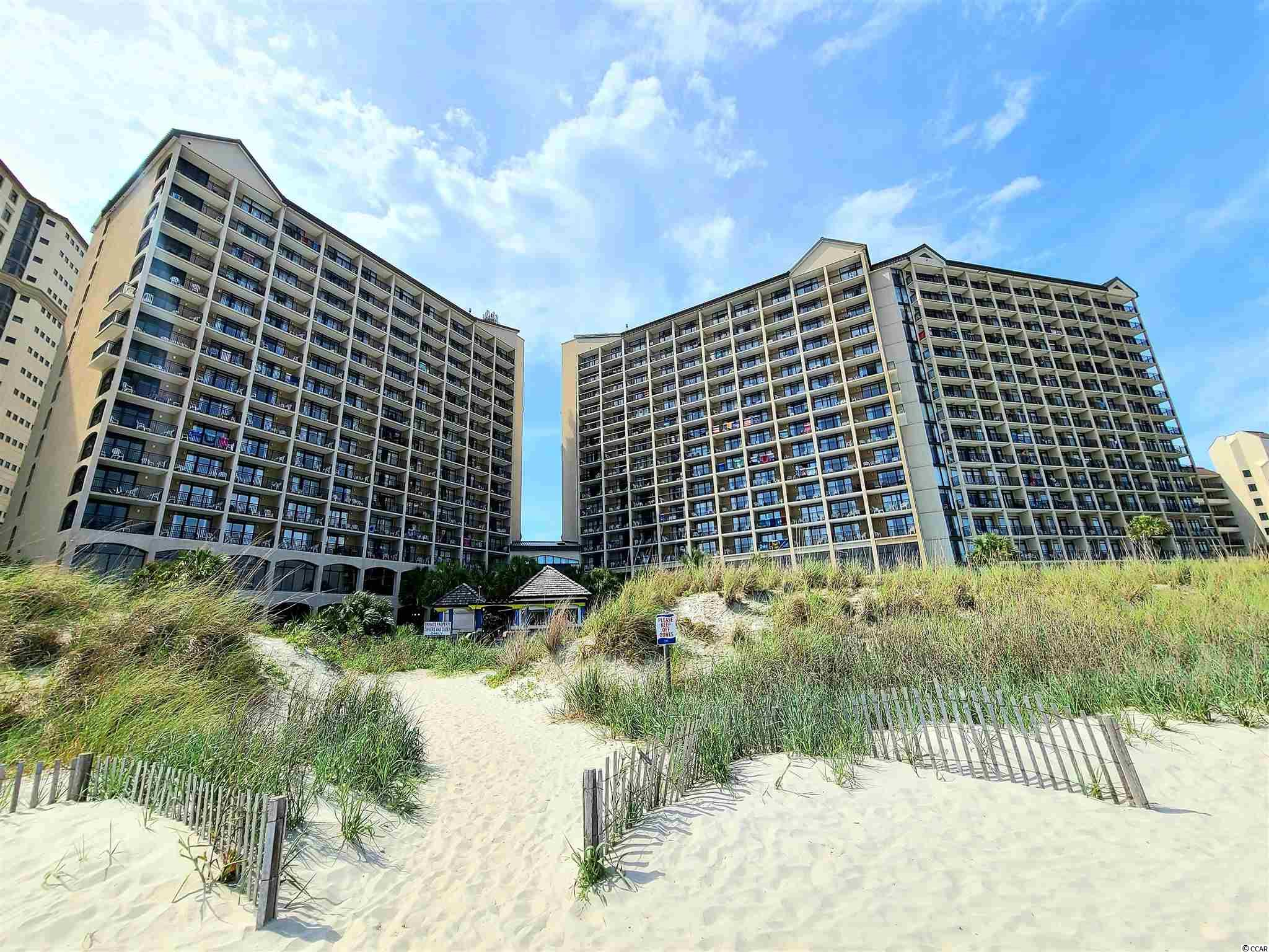 Immaculate 11th floor direct ocean front condo in the beautiful Beach Cove Resort. Fully upgraded unit. 2 Queen Beds & Sleeper Sofa sleeps 6. Large balcony overlooks the multiple pools with the Atlantic Ocean as the backdrop. Beach Cove Resort offers outdoor pools, an indoor pool, fitness center, restaurant, cafe, arcade area and more. Conveniently located near House of Blues, Alligator Adventure, Duplin Winery, Barefoot Landing, many dining choices, shopping and entertainment. A #1 choice in the area. Building is motorcycle friendly! Pet friendly for owners!