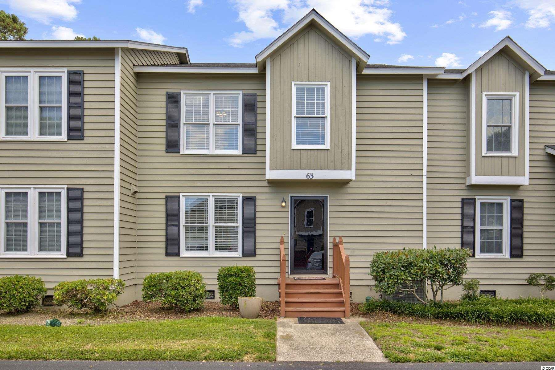 Moss Creek Townhome- Murrells Inlet, SC This charming home offers a large kitchen and dining area a 23'x 11.5' great room, which the sellers have subdivided with furniture to create 2 distinct spaces, and also a powder room on the first floor. The second floor has a large master bedroom overlooking the pond, with a walk out deck to enjoy your coffee in the mornings, as well as 2 additional bedrooms.   Owner has recently replaced all the subfloors and encapsulated the crawlspace, and has redone the floors with new grey laminate and wood stairs, upgraded to a new 2 zone HVAC with all new ductwork, new sliding door, and new a garbage disposal, microwave, dishwasher, washer and dryer. The HOA has recently replaced all the windows and siding. The new windows along with the new HVAC units keep the electricity bills exceptionally low. The best part is the location!! This unit is walking distance to the inlet, park, restaurants, live music and the bike path. The community's amenities include an outdoor pool, tennis courts and clubhouse.