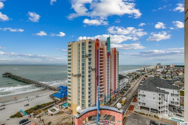 Direct oceanfront, 3 bedroom, 3 bathroom, great floorplan (two bedrooms and living room on ocean) with tremendous oceanfront views, well decorated and cared-for, 16th floor condo in the Prince Resort complex in the Cherry Grove section of North Myrtle Beach. This luxurious, spacious condo has been updated with nice furniture, tile (wood-look) floors, no carpet, updated granite countertops, HVAC replaced in 2018 and is under warranty, black appliances, floor to ceiling windows to enhance views and to let in more light. Fine dining at the downstairs restaurant 3500 Ocean Grill or walk just outside to the beachfront Boardwalk Cafe. Go fishing on the pier, workout at the gym, relax on the beach, or enjoy the pools and lazy river.