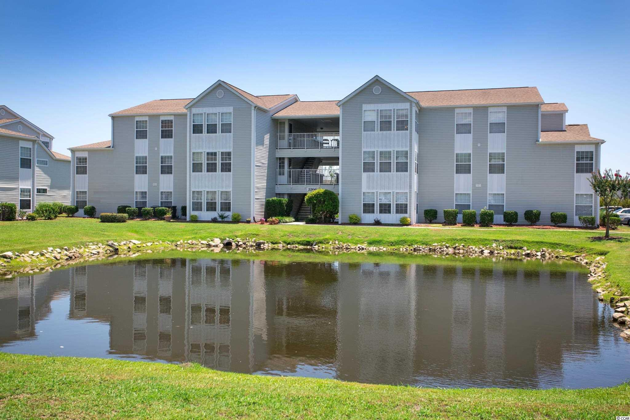 Very nice 3BR/2BA unit.  HVAC system new in 2019. Sunroom with gorgeous view of garden and lake.  Master with walk-in closet, master bath with vanity and shower.  2nd bath features tub/shower combo.  All appliances convey.  Home, sweet home or golf/beach retreat.  See today.