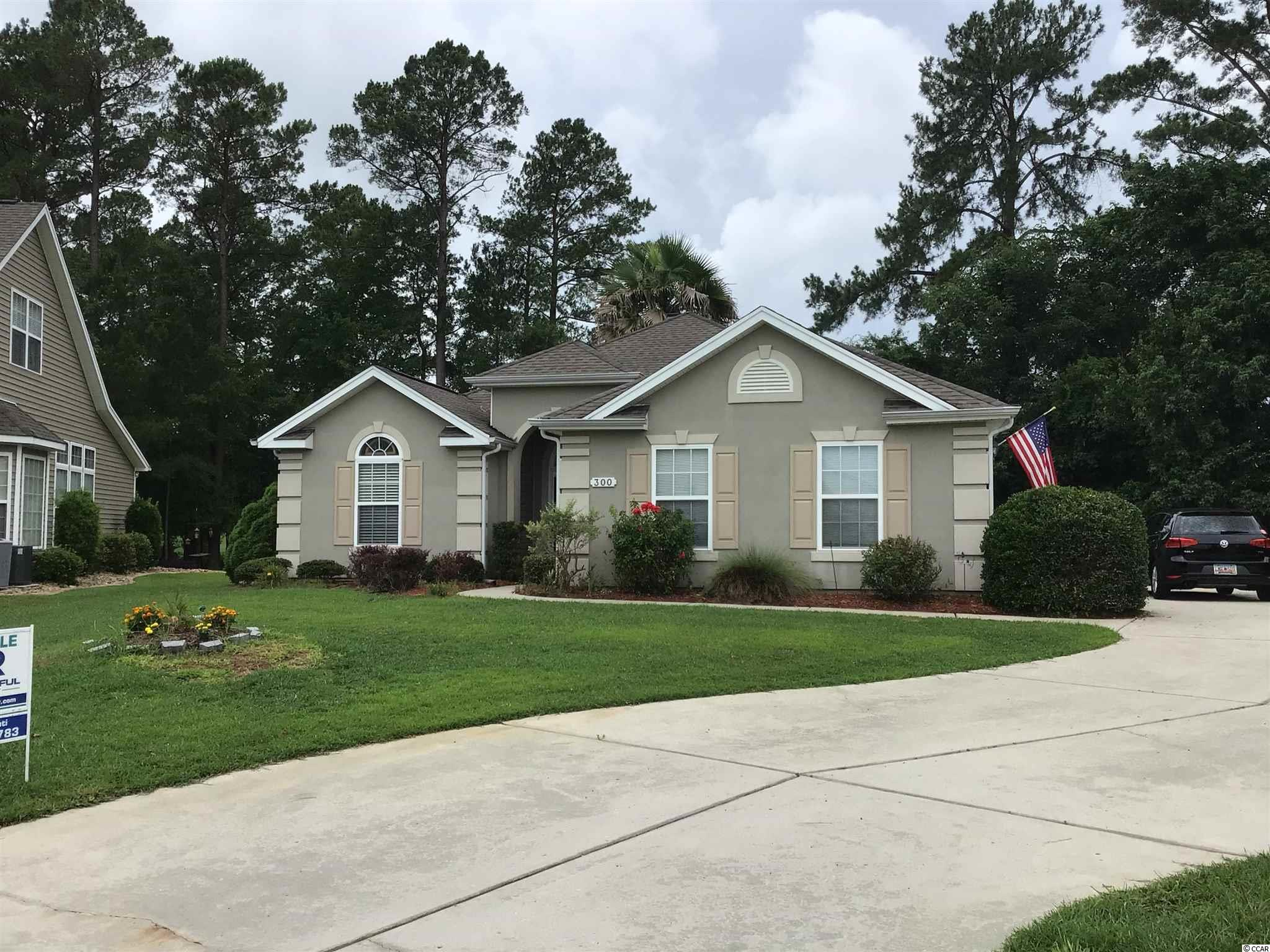 Welcome Home to the only property currently available in the upscale community of Arrowhead Golf Course.  This 3 bedroom 2 bath home sits on one of the larger lots in the Maitland Section overlooking the beautiful golf course & pond.  This single level home has wood & tile floors, Stainless Steel appliances, fireplace, open floor plan, master bath has double sink & walk in closet.  Arrowhead is located in the award winning school district of Carolina Forest & is close to everything Myrtle Beach has to offer!