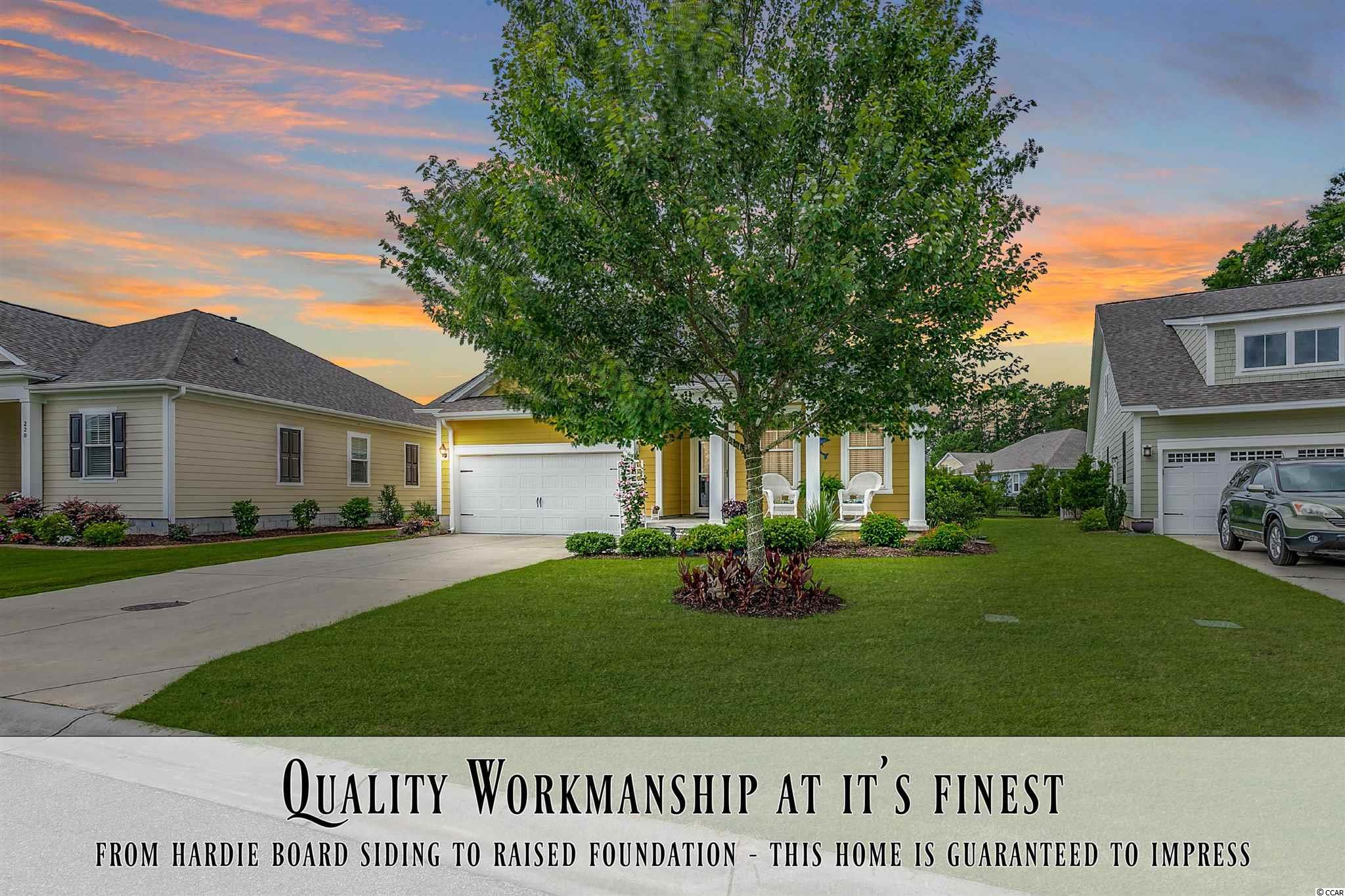 """Extremelyhigh quality constructionby Port City Homes (One of the most sought after custombuilders in the area!)! Homes like this do not come up for sale often in this market. From Hardie board siding & raised foundation on the exterior to wood flooring & natural gas fireplaceon the interior; the list of top of the line features are guaranteedto impress! Welcome to one of the most desired communities in Prince Creek! Champions Villagesits along #18 of the only TPC golf course in the state of South Carolina. There areonly 2 planned communities built on the course itself, and Champions Village is one of them. Enjoy the many perks of living a short walking distance to the course & clubhouse. There are a wide array of weekly activities to keep you busy. From happy hour to large events, this active community will keep you cheerful on a daily basis. 216 Ponte Vedra - """"The Sawgrass"""" floor plan with a super bonusroom upstairs. Recognized asTHE floorplan to have in the community! This home simply checks all the boxes. 216 Ponte Vedra Drive features the perfect criteria! A spacious open layout, large screened in back porch, spacious covered front porch, fireplace, natural gas heat/water/cooking, and super bonus area upstairs for your guest (upstairsfeatures a living/sitting room,bedroom, and full bath). This home is built with extreme quality! As soon as you take your first step inside you'll notice all the exquisite attention to detail. Top of the line products and quality workmanshipdescribesthis cozylow country home the best! **Please be sure to click on the virtual tour link provided for a full floor plan walk-throughusing Immoviewer® dollhouse technology.**"""