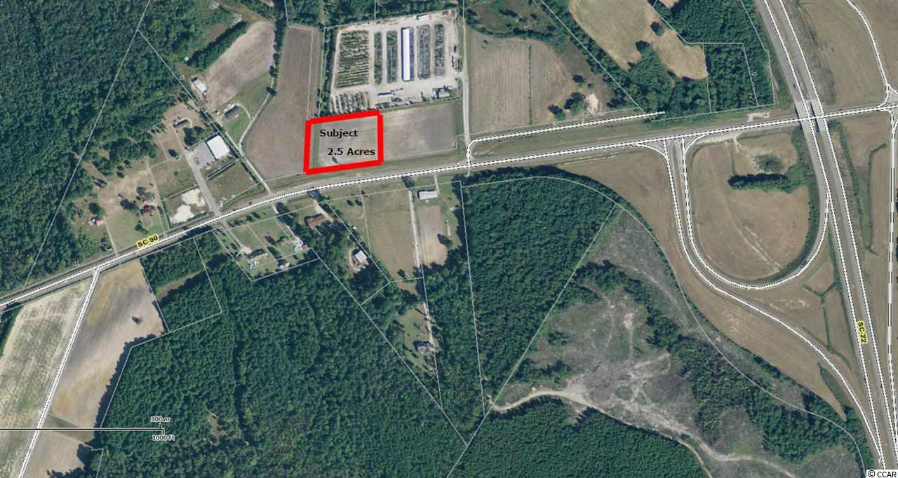 """Up for lease is this 2.5 acre parcel, perfect for a business needing """"room to roam"""". There approximately 400' of frontage on Hwy 90.  Property is centrally located and conveniently situated approximately 1/4 mile from Hwy 22, providing quick access to North Myrtle Beach, Myrtle Beach, Little River, Longs and Conway.  Property is zoned CFA and provides for multiple uses.  Owner is willing to listen to offers and will be flexible on lease terms."""