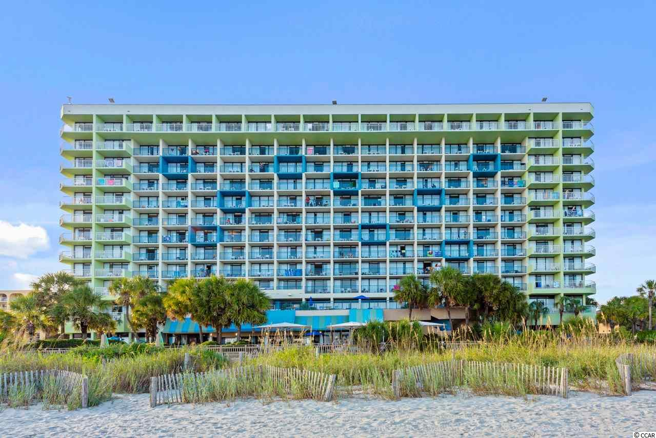 """Upgraded unit interiors. Direct Oceanfront 1 Bedroom located on the 5th Level @ the Coral Beach Resort! Gorgeous views. Excellent rental history.  The 3 1/2 acre Coral Beach Resort has more onsite amenities than any other resort on the Grand Strand. Water amenities include multiple indoor and outdoor pools, a long lazy river, several kiddie pools, indoor and outdoor spas and Jacuzzis and a kiddie water park. Other resort features include a fitness room, the Atlantic Restaurant - serving a hot buffet breakfast year-round, The Coral Bean Cafe' (coffee shop), Splash Oceanfront Bar and Grill, a gift shop/convenience store, a business center, an impressive check-in lobby and """"The Entertainment Zone"""" - a recreation center with 8 AMF lanes of bowling, arcade games, a snack bar, and an ice cream shop. The Coral Beach Resort is conveniently located close to the Family Kingdom Amusement Park, The Myrtle Beach Boardwalk, The Market Common, Broadway at the Beach and the Myrtle Beach International Airport. The HOA fee includes water/sewer, unit electric, cable, internet, as well as building insurance. (Note: Unit photographs are of similar unit located on 6th level of building due to high rental season demand - photographer not able to obtain access at this time.)"""