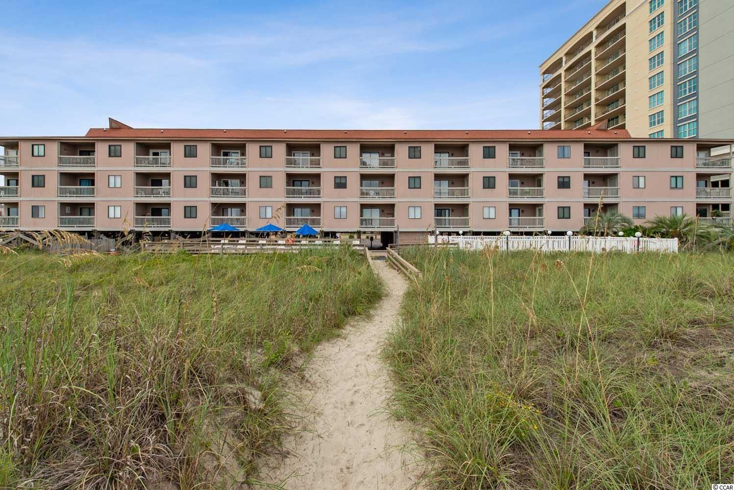 This quiet oceanfront resort in North Myrtle Beach features an oceanfront pool area and a grilling area. You'll love the breathtaking direct ocean views from your private balcony in this Ocean Drive section of the beach. Inside, includes all the conveniences of home, washer and dryer, central air only 2 years old, cable and internet. Outdoor amenities include a grill area, a spacious sun deck that spans the width of Chateau by the Sea, and a refreshing outdoor pool.  Location is just a few blocks south of Main Street, where there are many restaurants,  boutiques, beach stores, cafes and ice cream shops.  Short drive to Barefoot Landing, Broadway At the Beach, Shows, Dining, Shopping, and lots more.  Great primary residence, second home and/or beachfront rental.