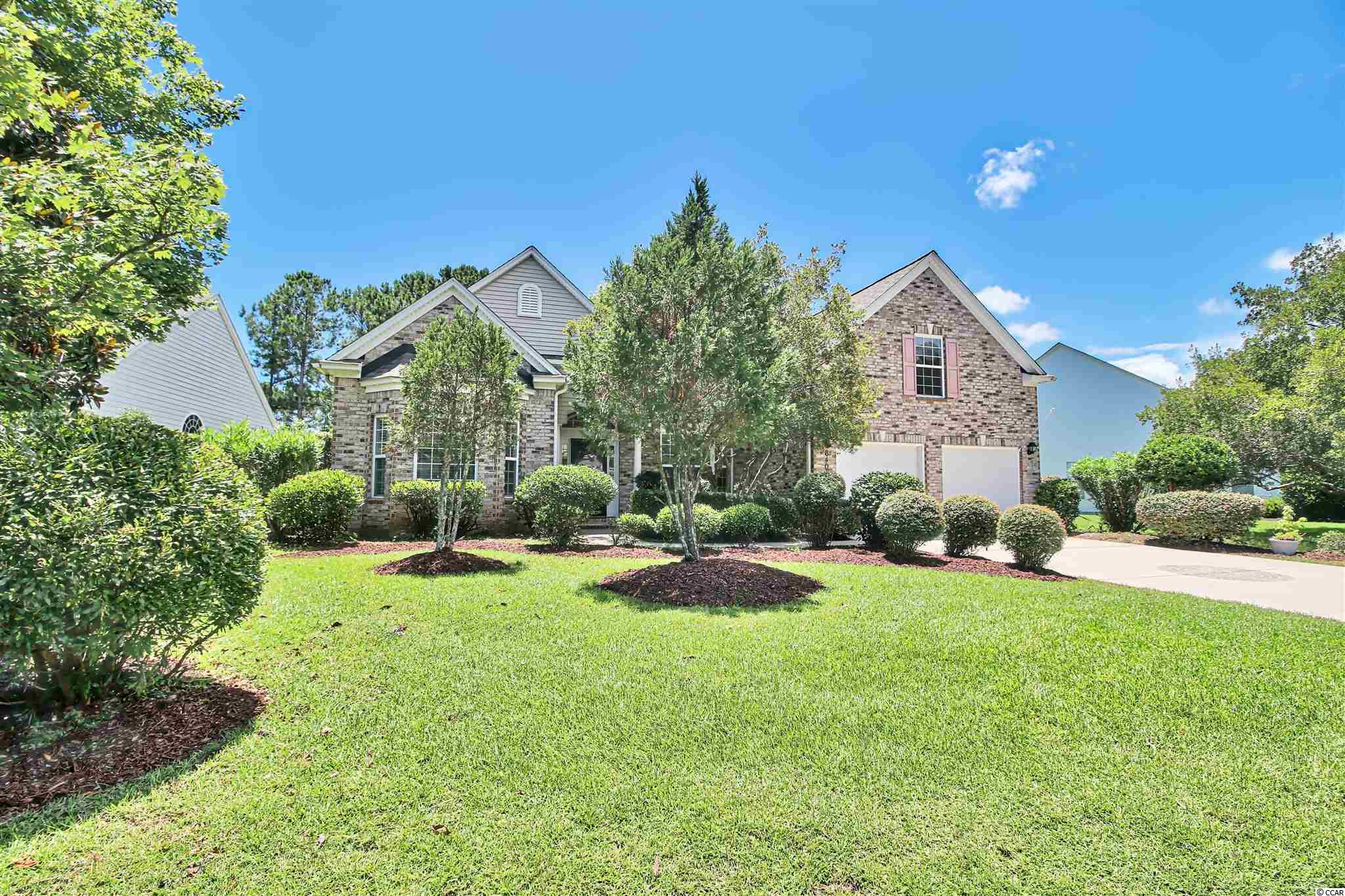 Located within Devonshire at the Longwood Plantation section of Blackmoor in Murrells Inlet, this fabulous 4 bedroom, 3 1/2 bath home sits on a large lot backing up to the central lake of the neighborhood. A new roof (2019) and a new HVAC system (2017), along with a newly serviced, fully functional irrigation system, adds to the spectacular features of the home.  The open concept includes a large foyer leading to the living room, kitchen, and dining room. There are also two master suites complete with full bathrooms and walk-in closets.  One of the master suites has access to the huge screened porch and a spa-garden tub in the bathroom as well dual vanities.  There are two additional bedrooms sharing a full bathroom and one of the bedrooms can be used as an office. The laundry room (washer and dryer convey) is located off the kitchen and leads to the two car garage. The living room is highlighted by a fireplace and fifteen foot ceilings.  The kitchen has solid surface countertops, stainless steel appliances, a work island, a breakfast bar, and a breakfast nook. The patio, located off the Screened porch, opens up to the scenic backyard and overlooks the lake. Blackmoor is just minutes away from Murrells Inlet's famous Marsh Walk, Huntington Beach State Park, Brookgreen Gardens, Wacca Wache Marina, and 15 miles to Myrtle Beach International Airport. The community backs up to the Waccamaw River and includes a Gary Player signature championship golf course, community clubhouse, pool, tennis/pickleball/basketball courts, and children's playground