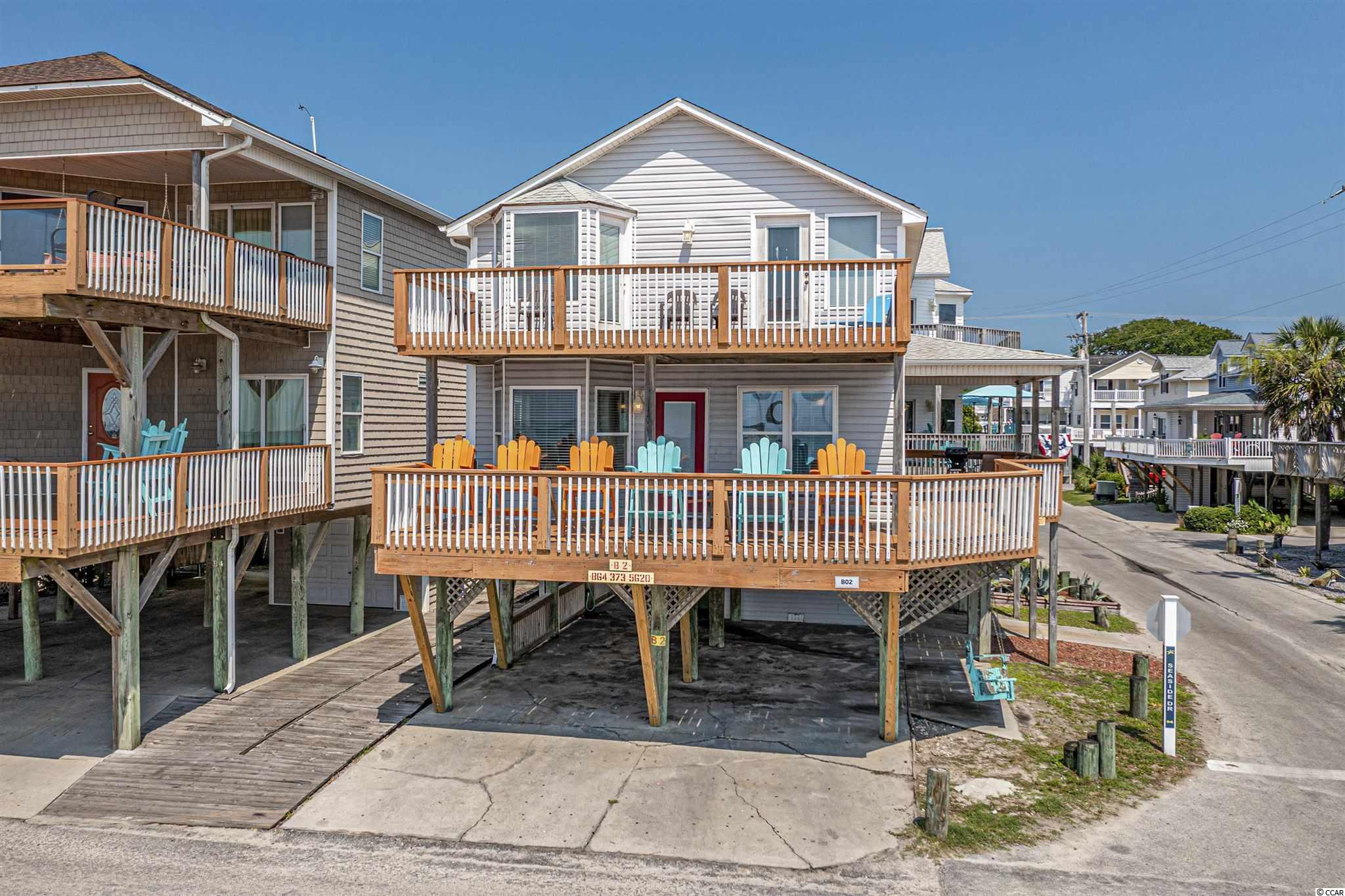 Ocean Front, Corner Lot. Amazing view from all the decks. Home comes with everything in pictures. All sites are close to the beach and most amenities that Ocean Lakes has to offer come with the purchase. Ocean Lakes has nearly a mile of beach front. 24 hour security and amenities such as indoor and outdoor pools, waterpark with a splash zone, golf cart rental, sales, and service, lazy river, slides, basketball courts, volleyball, mini-golf, and much more when you become part of the Ocean Lakes Family