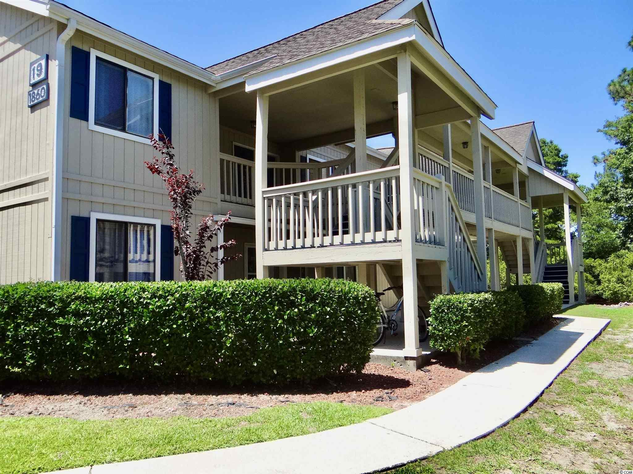 Wonderful, furnished 1 bedroon 1 and 1/2 bath condo in Golf Colony Resort of Deerfield Plantation in Sufside Beach, SC. Perfect for those weekend getaways to the beach. Quiet second floor condo overlooking the private pool and hot tub from a spacious balcony. Conveniently located approximately 1.75 miles from the Atlantic Ocean. Ideal for exploring all of the Grand Strand including nearby shopping and activities. Vacation rental is allowed with a minimum three day stay. Have your real estate agent show you this great condo today.