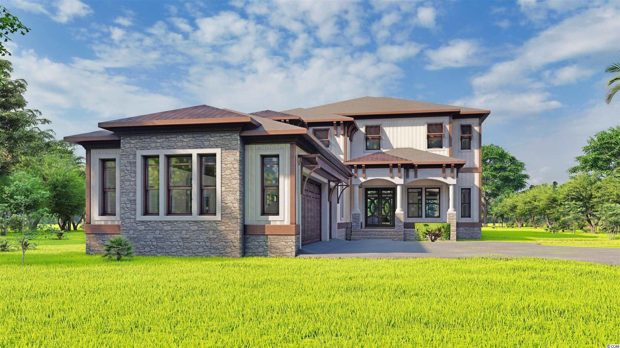 Open. Elegant. Impressive. Embrace the best of coastal living in this 5 BR, 4.5 BA Home. This home feels especially spacious with open floor plan and high ceilings. You'll love spending time in the heart of this home: an expansive great room that opens to your luxurious kitchen, where a center island offers abundant sitting for casual dining, and enough counter space to serve as a buffet for formal or informal gatherings. The open kitchen has Quartz countertops and beautiful custom cabinetry, and designer stainless-steel appliances would be the envy of chefs everywhere. A master suite with presidential tray ceilings and sumptuous bath offers a private getaway where you can start the morning in your grand walk-in shower or end the day with a nice long soak in your freestanding tub.  Backyard can be fenced. Unique features of this House are : all the rooms but the bonus room  are on the first floor, golf cart charger outlet in the garage ,epoxy garage flooring, custom windows that allow more natural light in the rooms ,modern and exclusive interior finishes, seamless gutters ,river rock in the flower beds ,outdoor salt water heated pool that is fenced (optional and not included in the listed price ),quartz countertops in the outdoor kitchen with BULL outdoor appliances, outdoor fireplace.  This home to be built by well-known and respected local builder in the prestigious gated community Waterbridge Plantation. Some of the feature include a fitness center, walk-in fire pit, swim up refreshment bar, cascading water walls, heated whirled pool and the largest residential pool in SC. Waterbridge has a 66 acre recreational lake for fishing and boating. If you want a perfect location that is surrounded by all that Myrtle Beach has to offer with the upscale lifestyle, look no further!Carolina Forest area offers award-winning schools, multiple little shopping centers, grocery stores, medical facilities, recreational centers, library, religious centers, bike park with the ultim