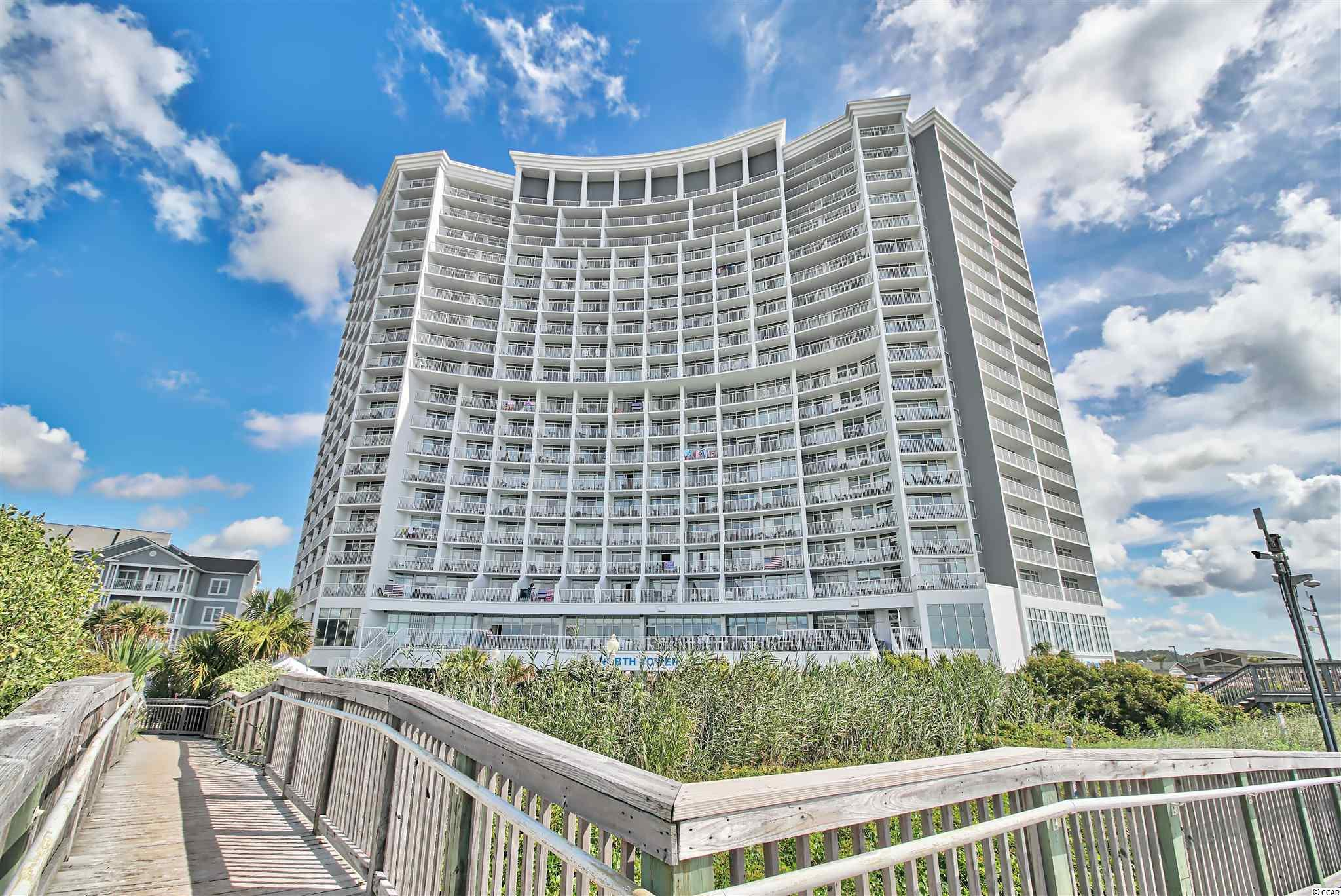 The one you've been waiting on! This 1 bedroom ocean front unit is in one of the most desirable and secluded locations of Myrtle Beach. This unit is one of the larger one bedroom units offered in the North Tower of Seawatch. Walking into your slice of paradise you are welcomed by 2 queen beds. Walking past, you enter your updated kitchen with a stone look apoxy countertop for easy cleanup allowing more time on the beach! When you're ready to leave the white sands just steps from you front door, you can enjoy the sounds of the crashing waves from your living room with a view for miles over the Atlantic Ocean. Schedule your tour today!