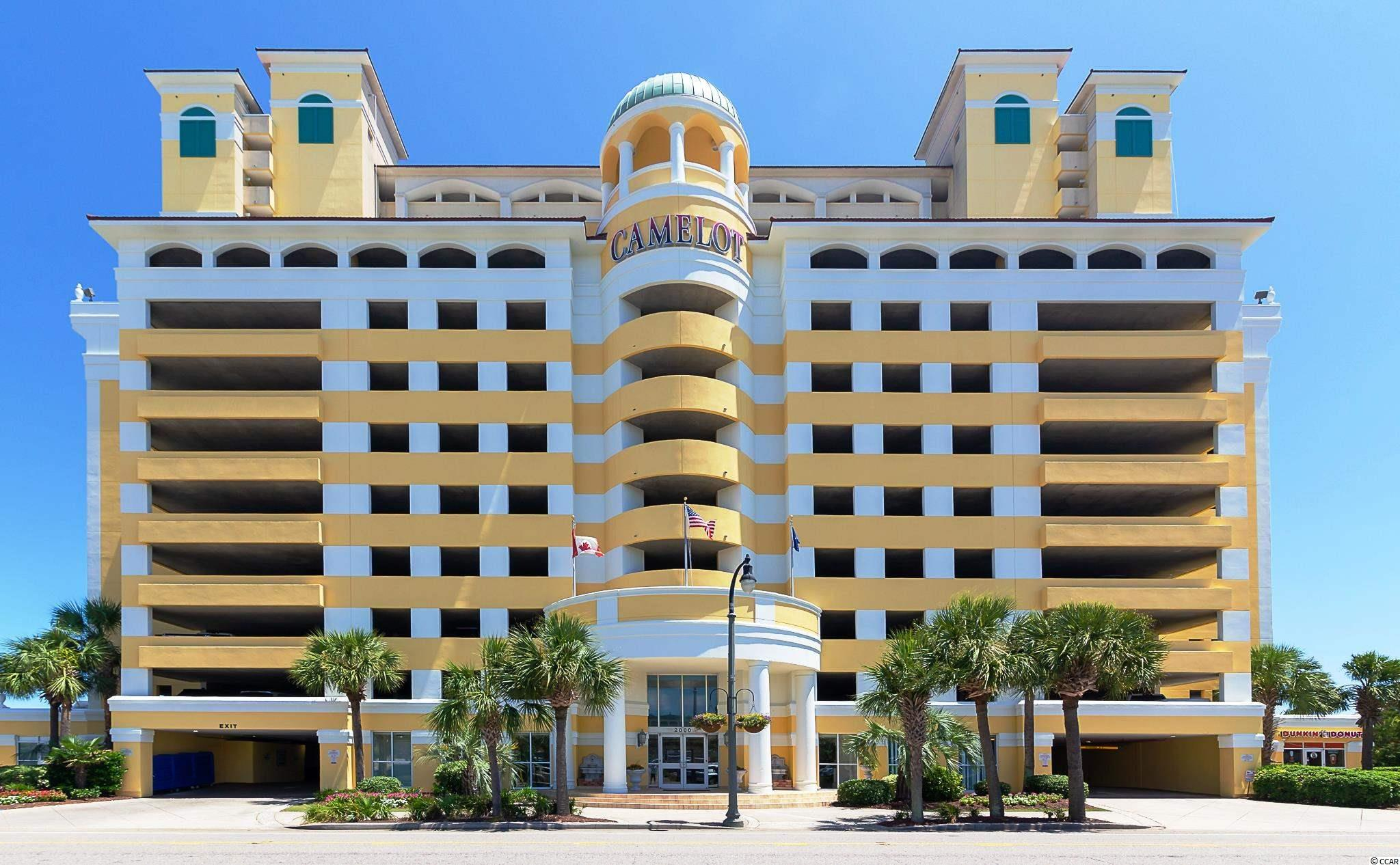 Great Investment Condo!! The numbers work real well with this oceanfront 2BD/2BA unit at Camelot by the Sea. Located at one of the most desirable intersections in the Grand Strand. This 6th floor unit has gone through some recent upgrades such as new HVAC(Feb.2020), Granite Counter Tops, Refaced Kitchen Cabinets, Dishwasher, Refrigerator, Recent Draperies and Paint Throughout. Camelot has many fantastic amenities such as indoor/outdoor pools, indoor/outdoor hot tubs, kiddie pools, 200 Ft. Lazy River and Fitness Center, on site Dunkin Donuts, extended grass area for family fun and relaxation.